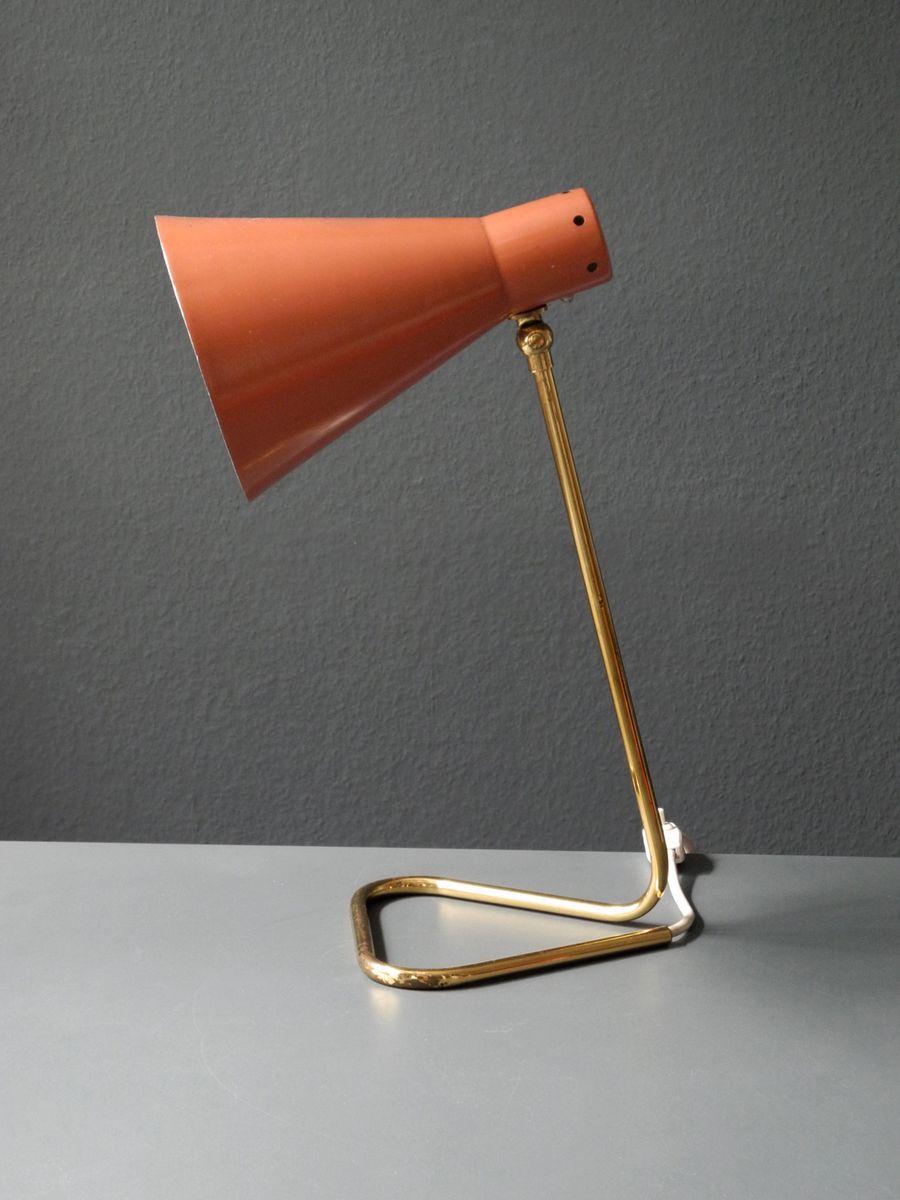 lampe de bureau mid century en laiton italie 1950s en vente sur pamono. Black Bedroom Furniture Sets. Home Design Ideas