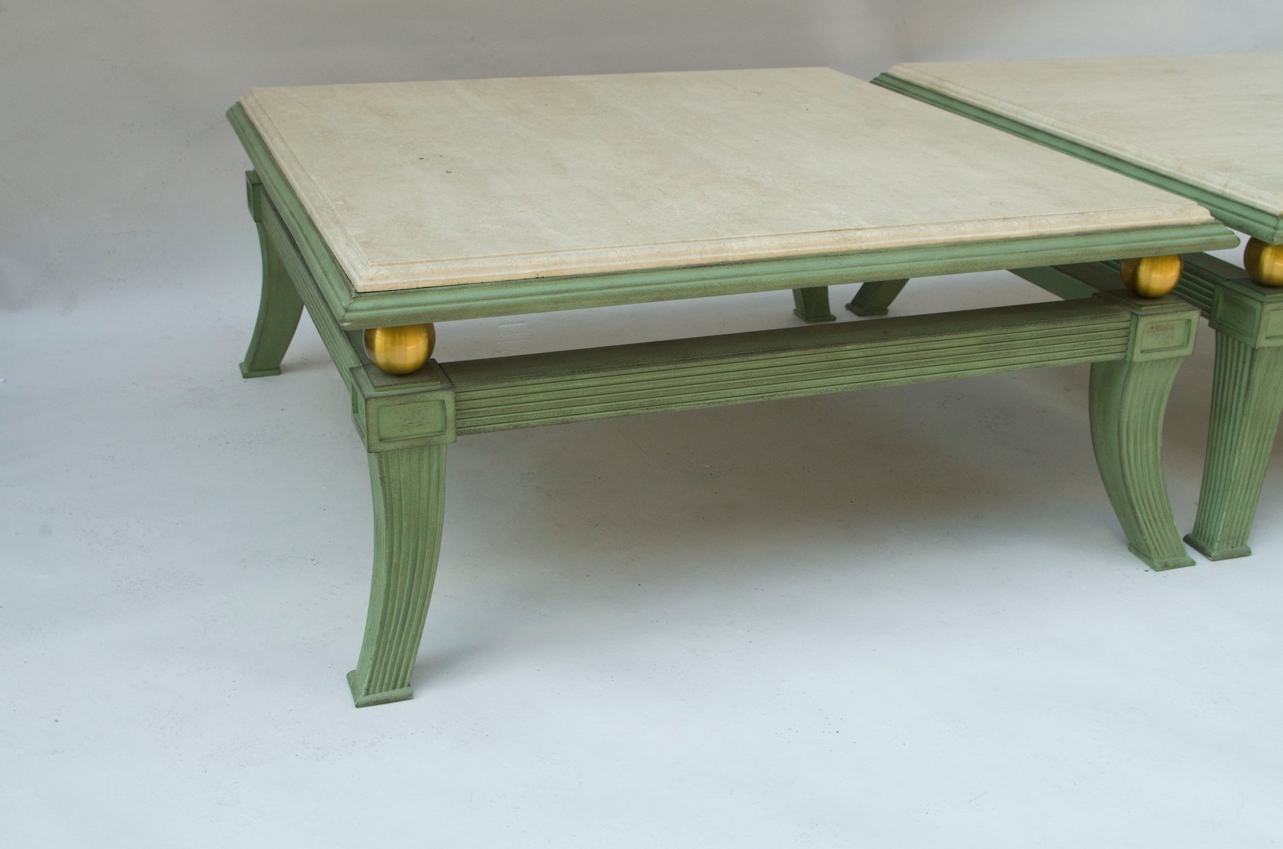 Tables basses carr es style trusque 1970s set de 2 en - Tables basses carrees ...