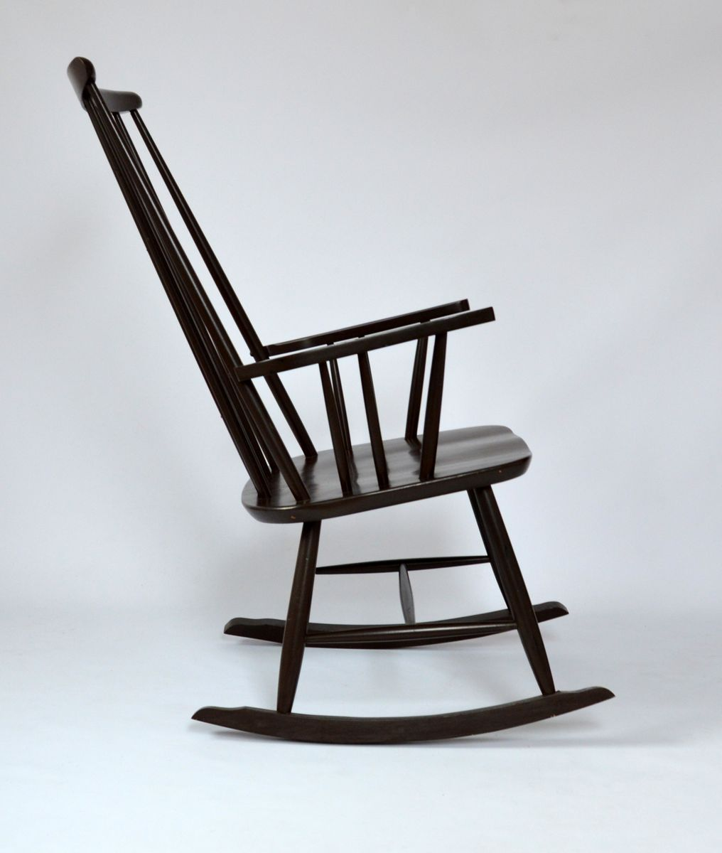 Sedia a dondolo di R. Rainer, 1955 in vendita su Pamono