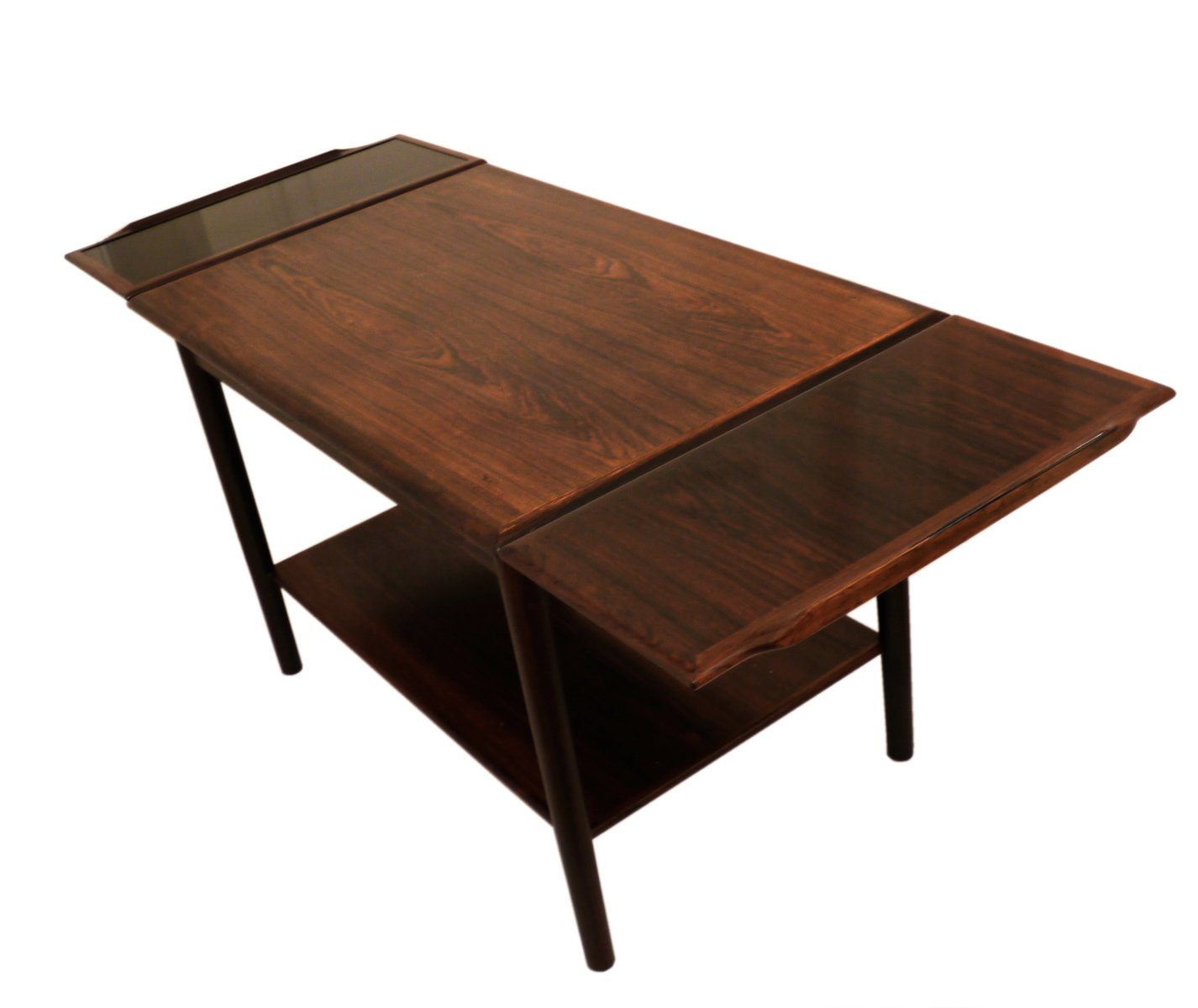 Danish Mid-Century Expandable Rosewood Coffee Table, 1960s