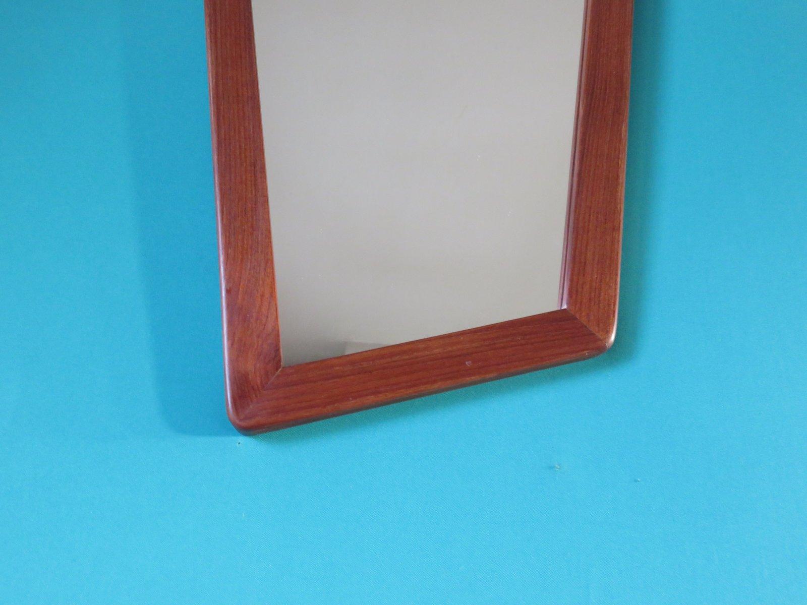 asymmetrischer d nischer spiegel im kubistischen stil mit rahmen aus teakholz 1950er bei pamono. Black Bedroom Furniture Sets. Home Design Ideas
