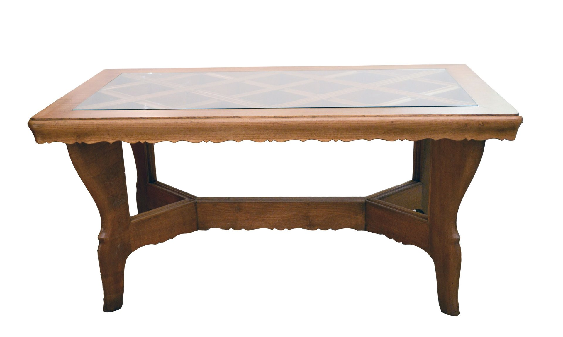 handmade solid oak table from atelier borsani 1940s for sale at pamono. Black Bedroom Furniture Sets. Home Design Ideas
