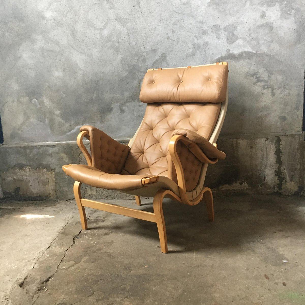 Schwedischer Vintage Pernilla Easy Chair von Bruno Mathsson für Dux, 1...