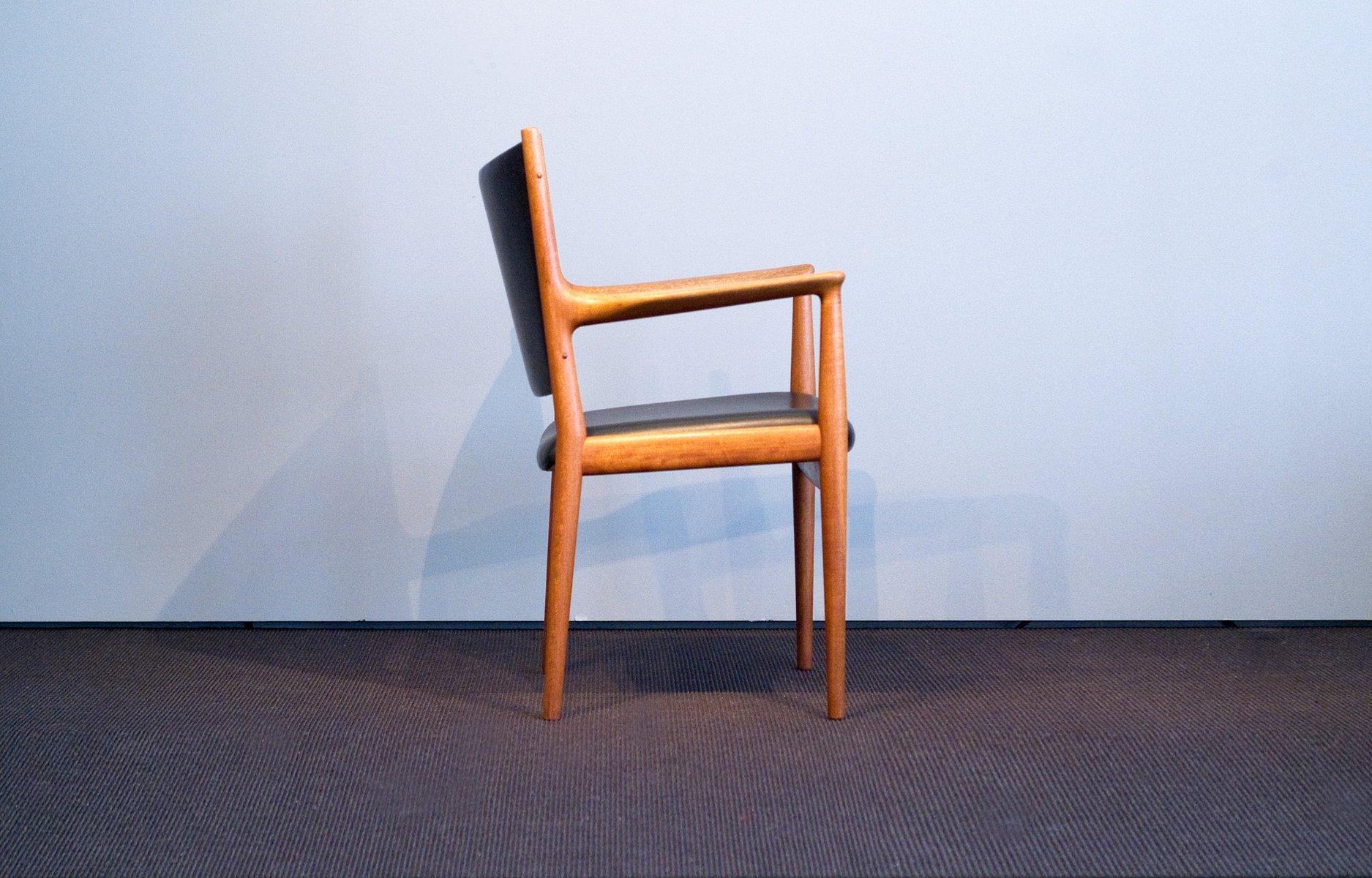 vintage jh 513 stuhl aus teak leder von hans j wegner f r johannes hansen bei pamono kaufen. Black Bedroom Furniture Sets. Home Design Ideas