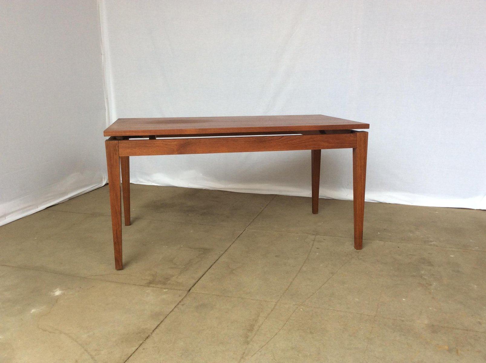 Teak Couchtisch mit Schwebender Tischplatte, 1970er