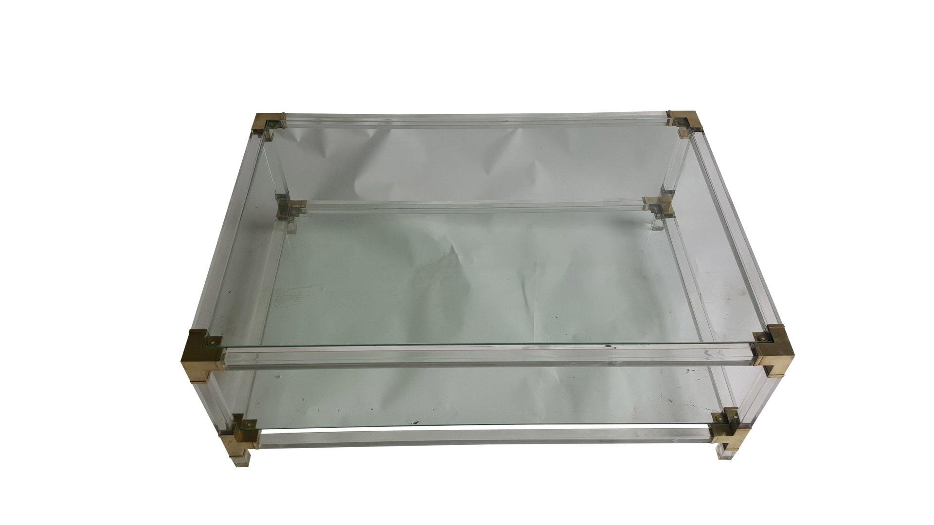 Mid Century Italian Plexiglass Coffee Table