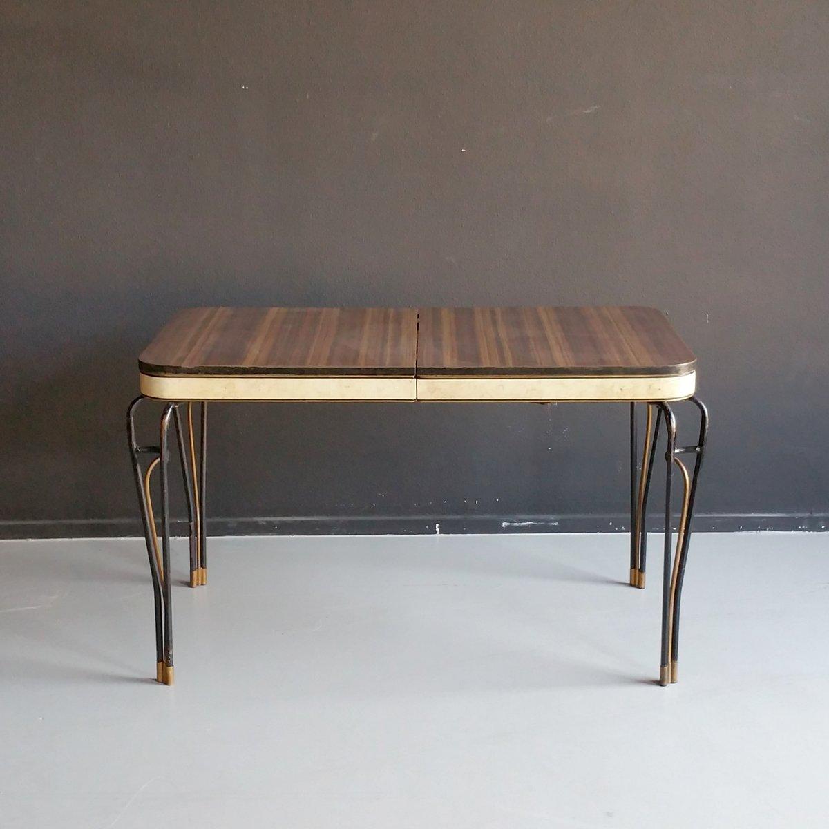 mid century sideboard aus formica vinyl mit. Black Bedroom Furniture Sets. Home Design Ideas