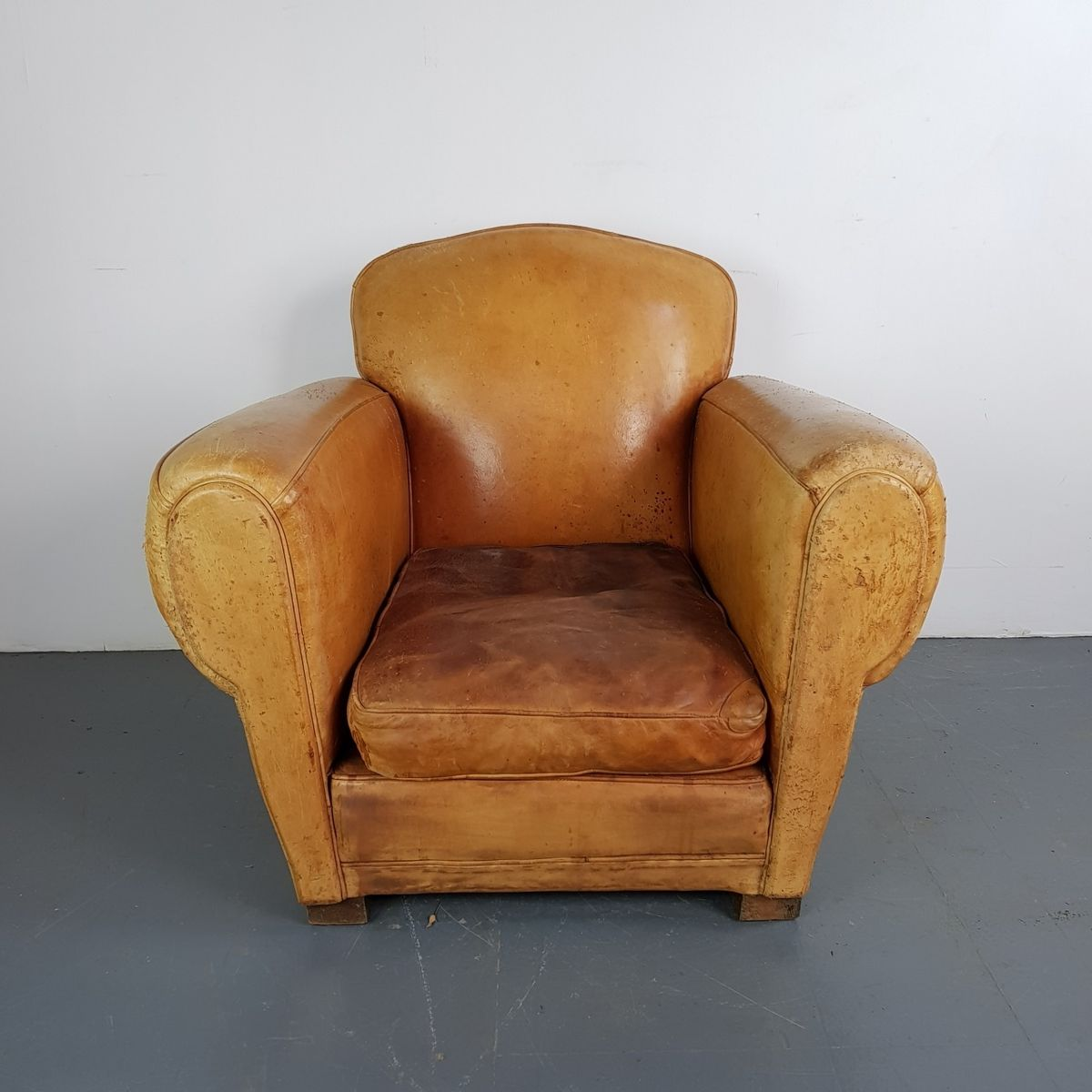 Bon Vintage French Leather Club Chair