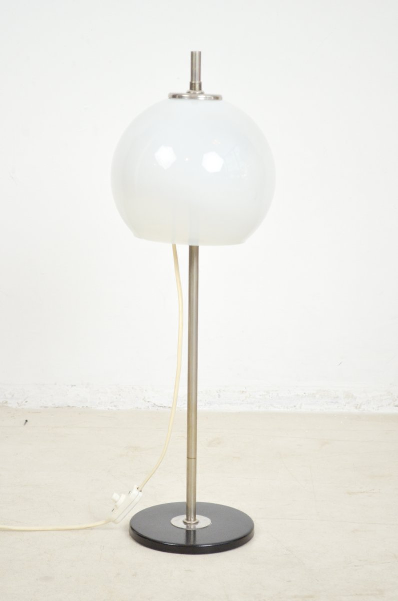 Schmale Chrom & Glas Tischlampe, 1960er