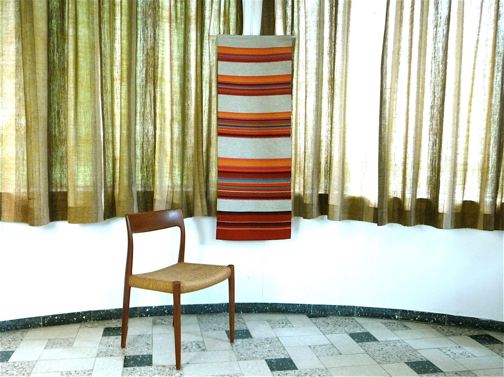 tapis mural fait la main par salme tervonen pour kainuun pirtti 1950s en vente sur pamono. Black Bedroom Furniture Sets. Home Design Ideas