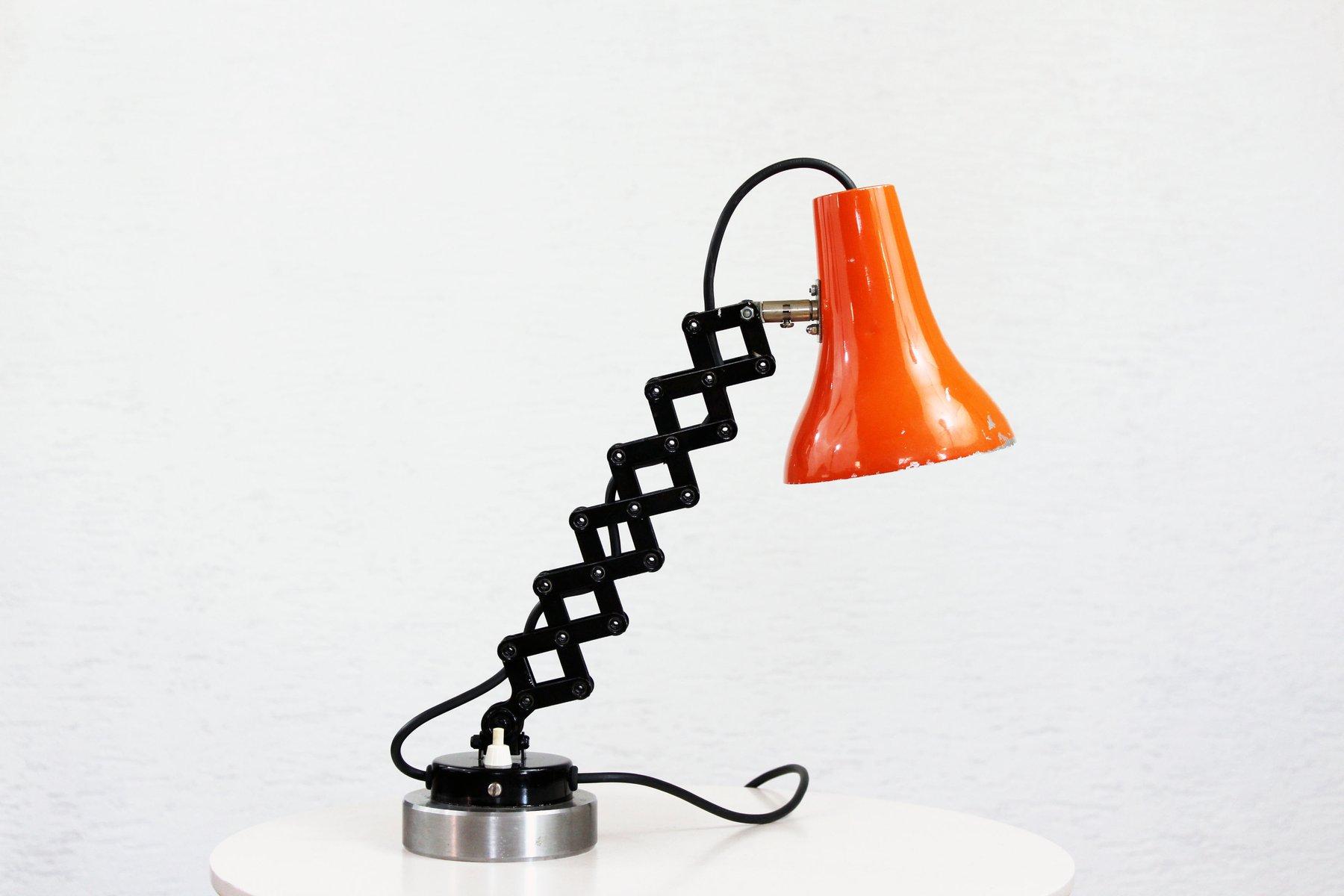 Vintage Scheren Lampe aus Metall
