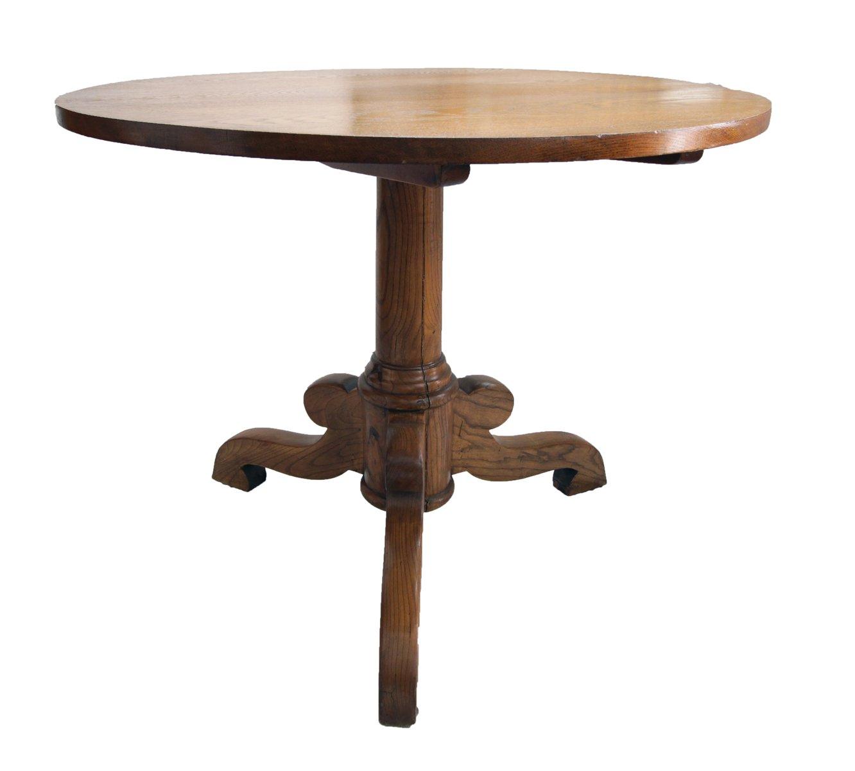 Tavolo rotondo antico in quercia e frassino in vendita su pamono - Tavolo rotondo antico ...