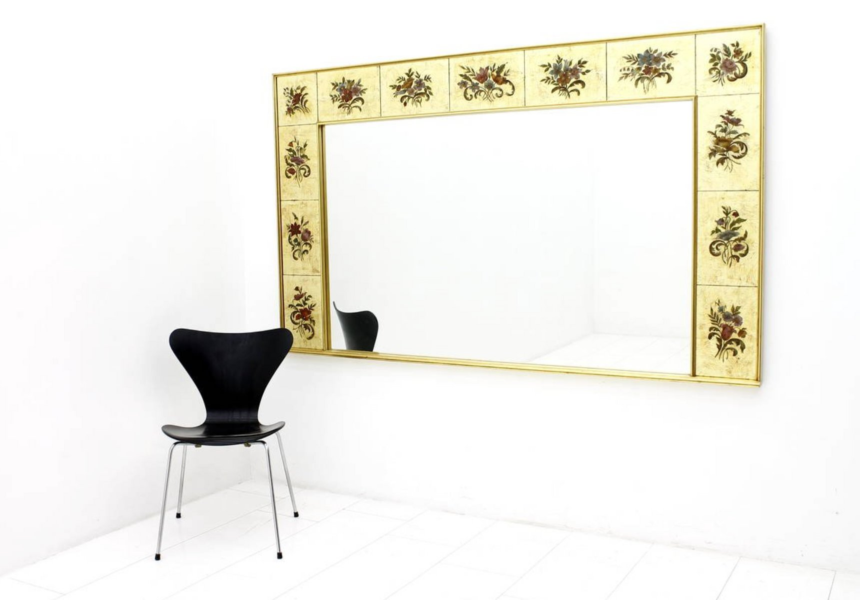 grand miroir mural d coratif 1980s en vente sur pamono. Black Bedroom Furniture Sets. Home Design Ideas