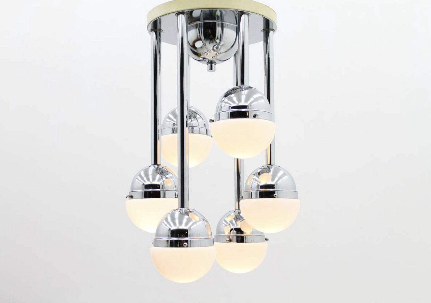 Italienische Kaskaden Deckenlampe, 1970er