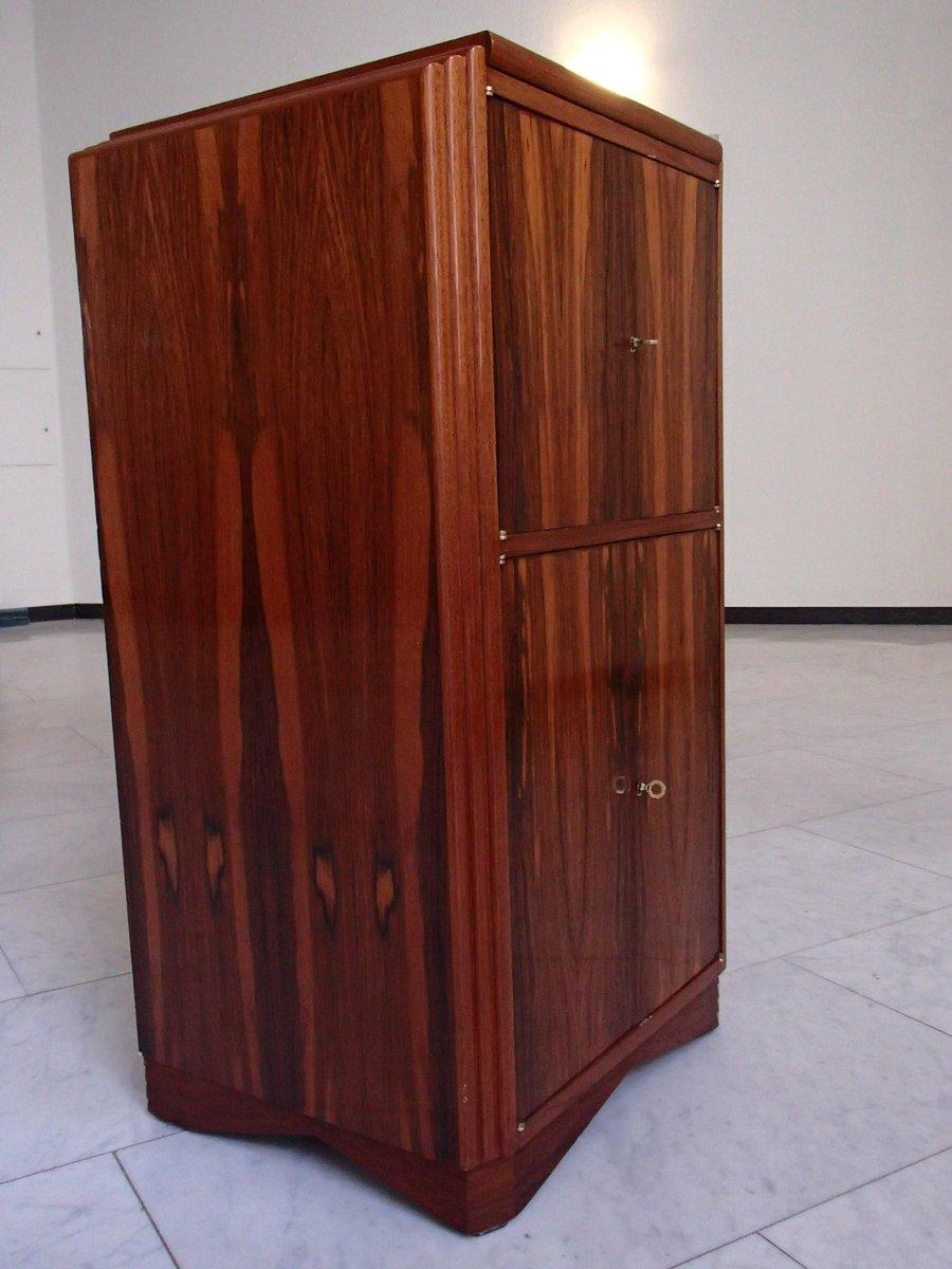 Art Deco Barmöbel Aus Mahagoni Mit Verspiegelter Platte Bei Pamono