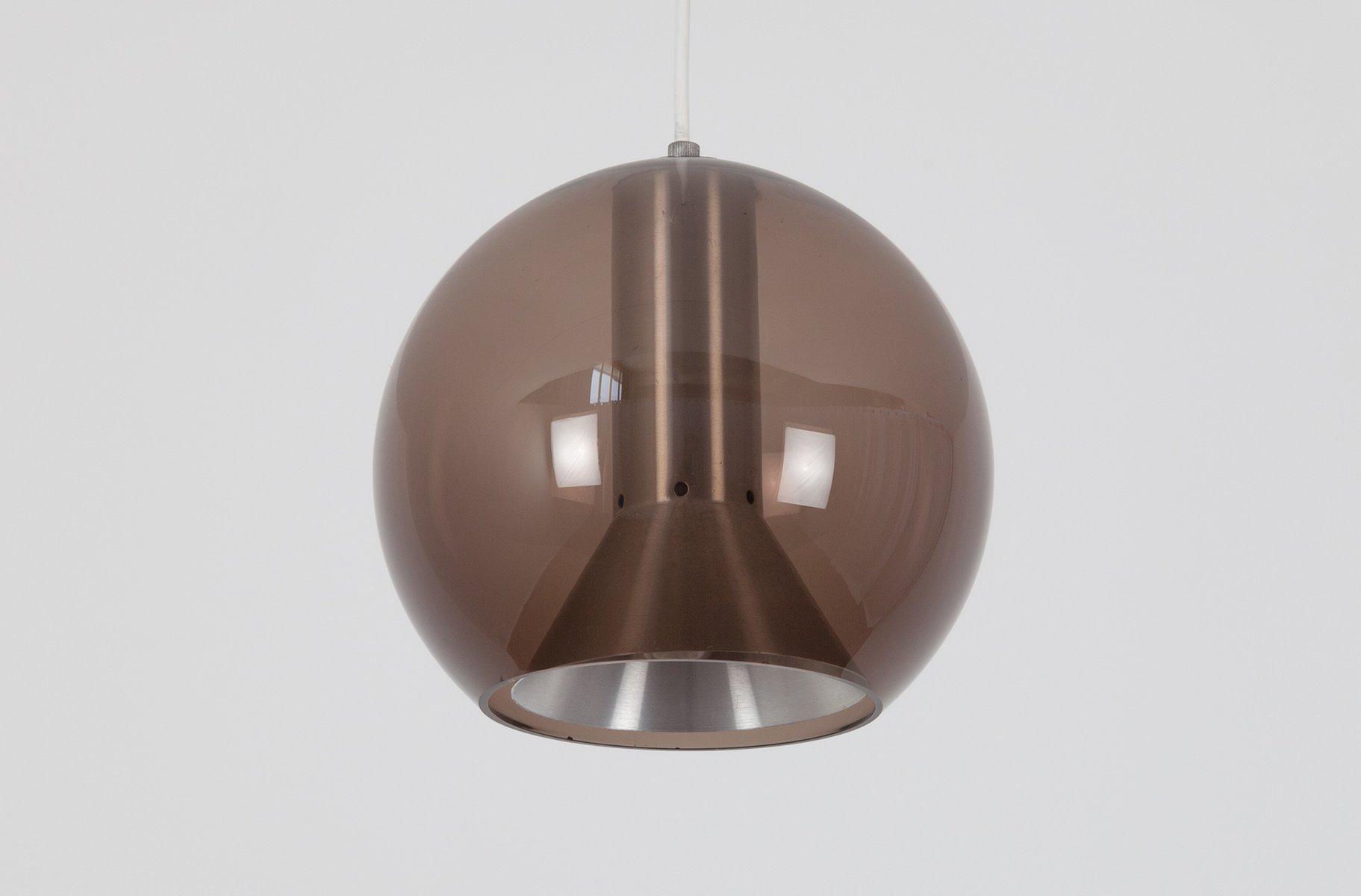 Vintage Rauchglas Kugel Lampe von Frank Ligtelijn für Raak