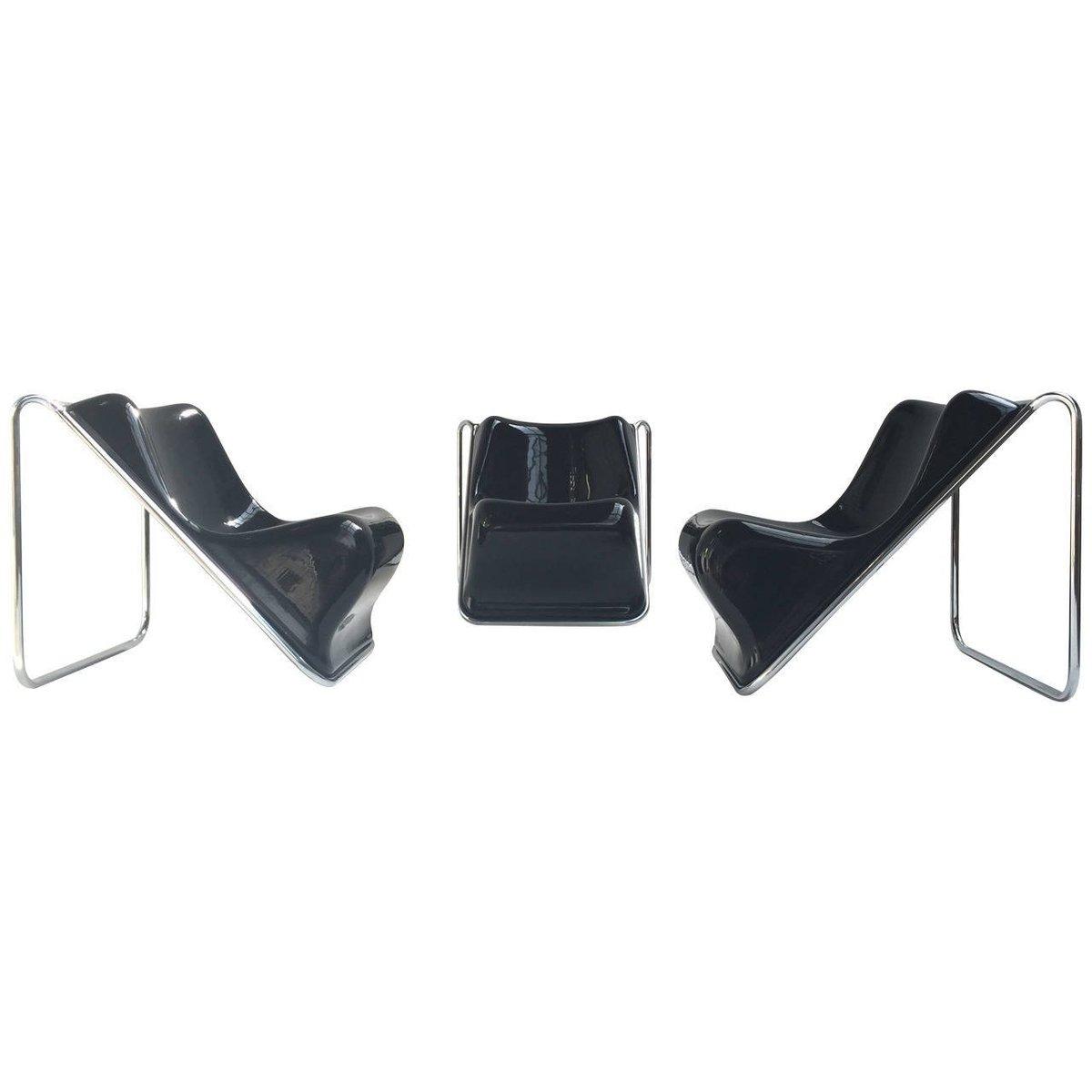 Vintage P110 Sessel von Rosselli für Saporiti, 3er Set
