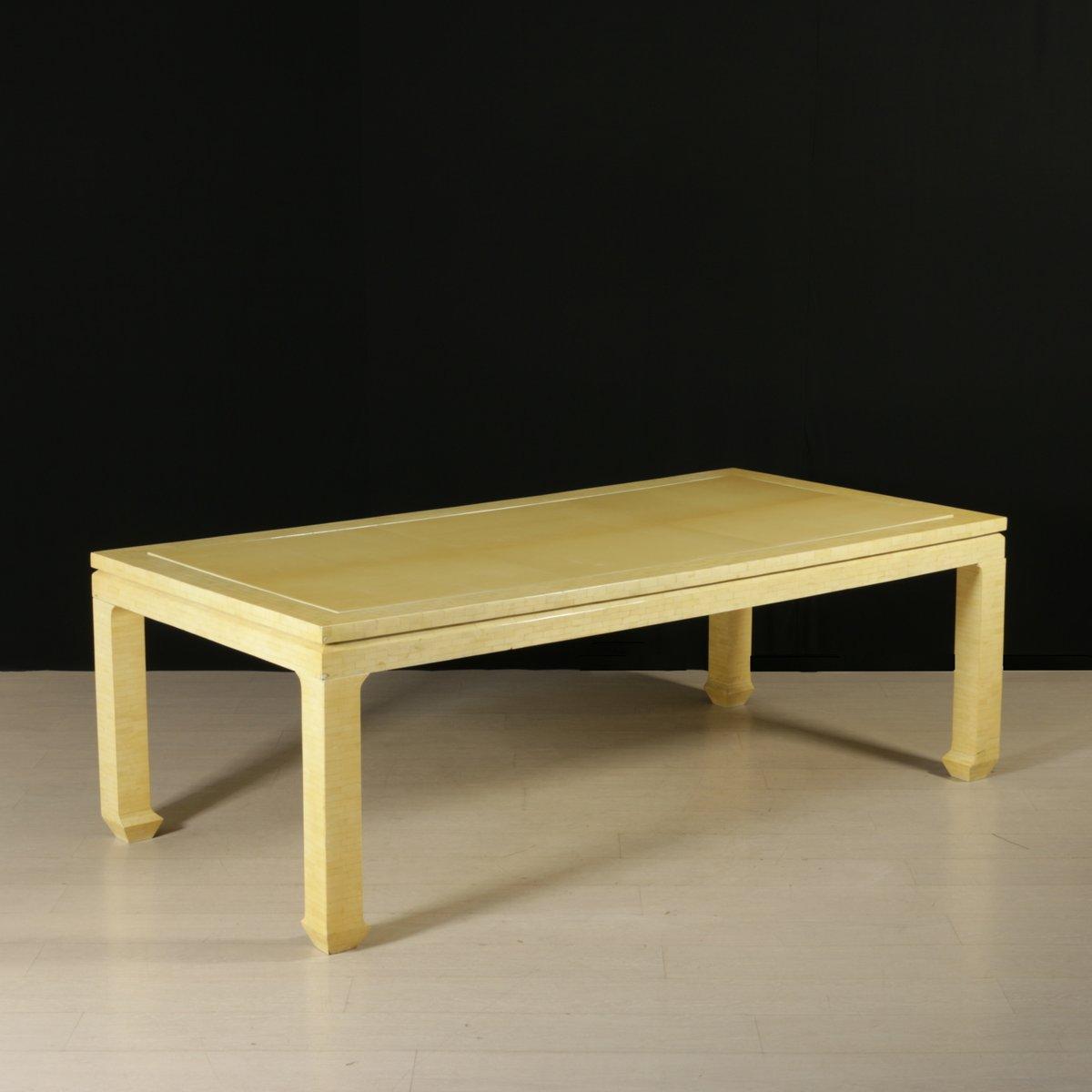vintage tisch aus holz elfenbein imitat schmiede uwe beer. Black Bedroom Furniture Sets. Home Design Ideas