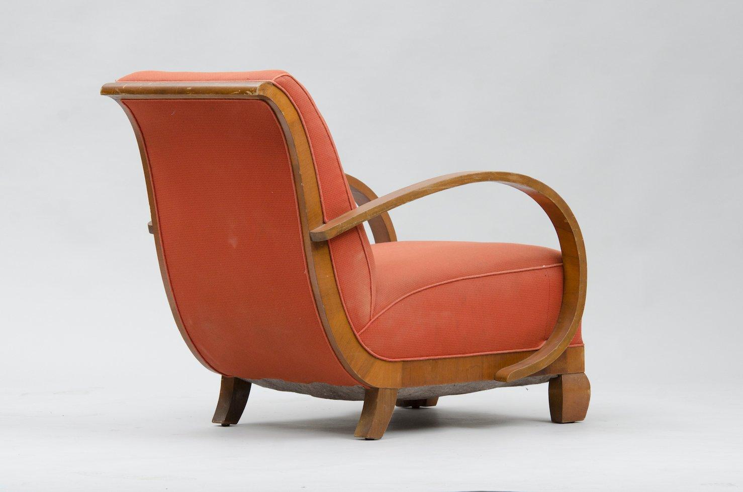 Ordinaire Art Deco Armchair In Walnut 7. $1,385.00. Price Per Piece
