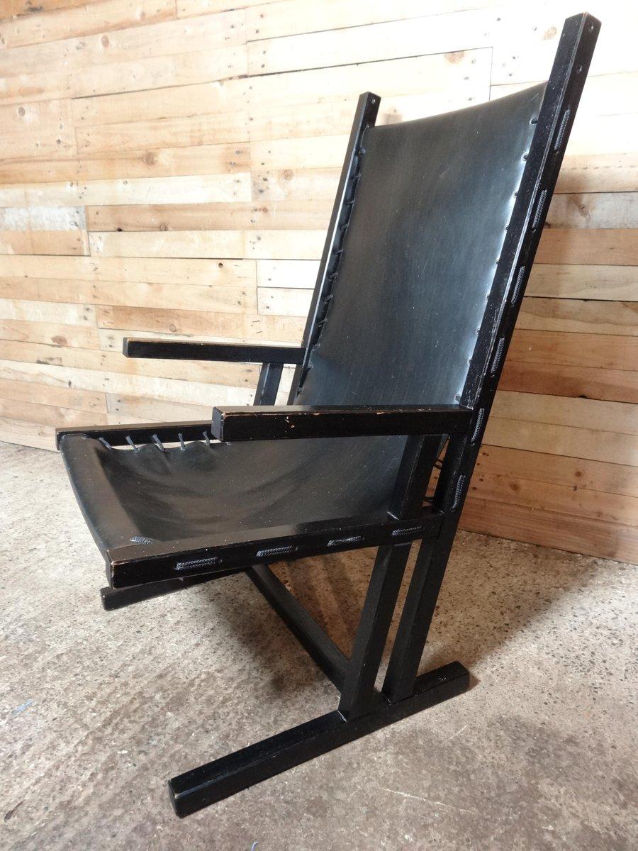 Chaise longue vintage en cuir noir pays bas 1960s en vente sur pamono - Chaise longue en anglais ...