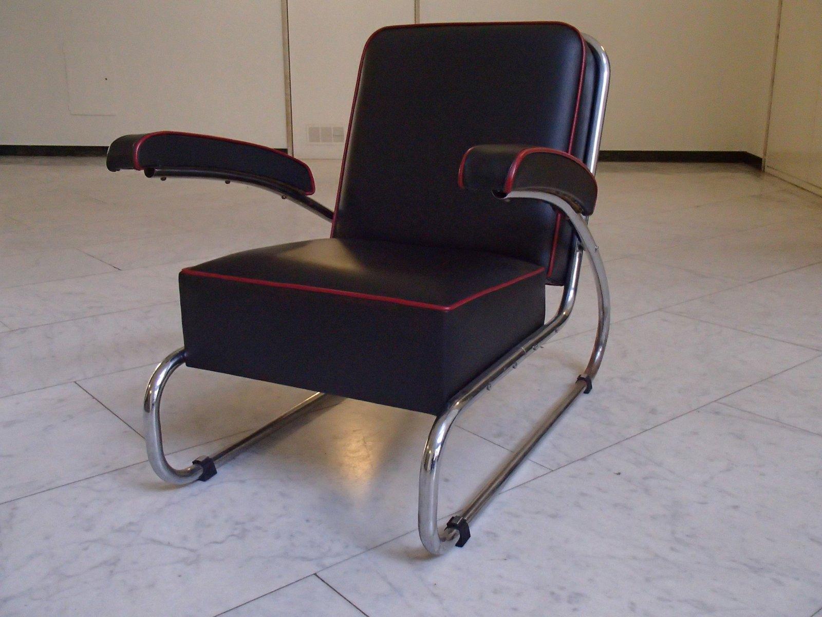 Leder Sessel von Hayek Gottwald, 1930er, 2er Set