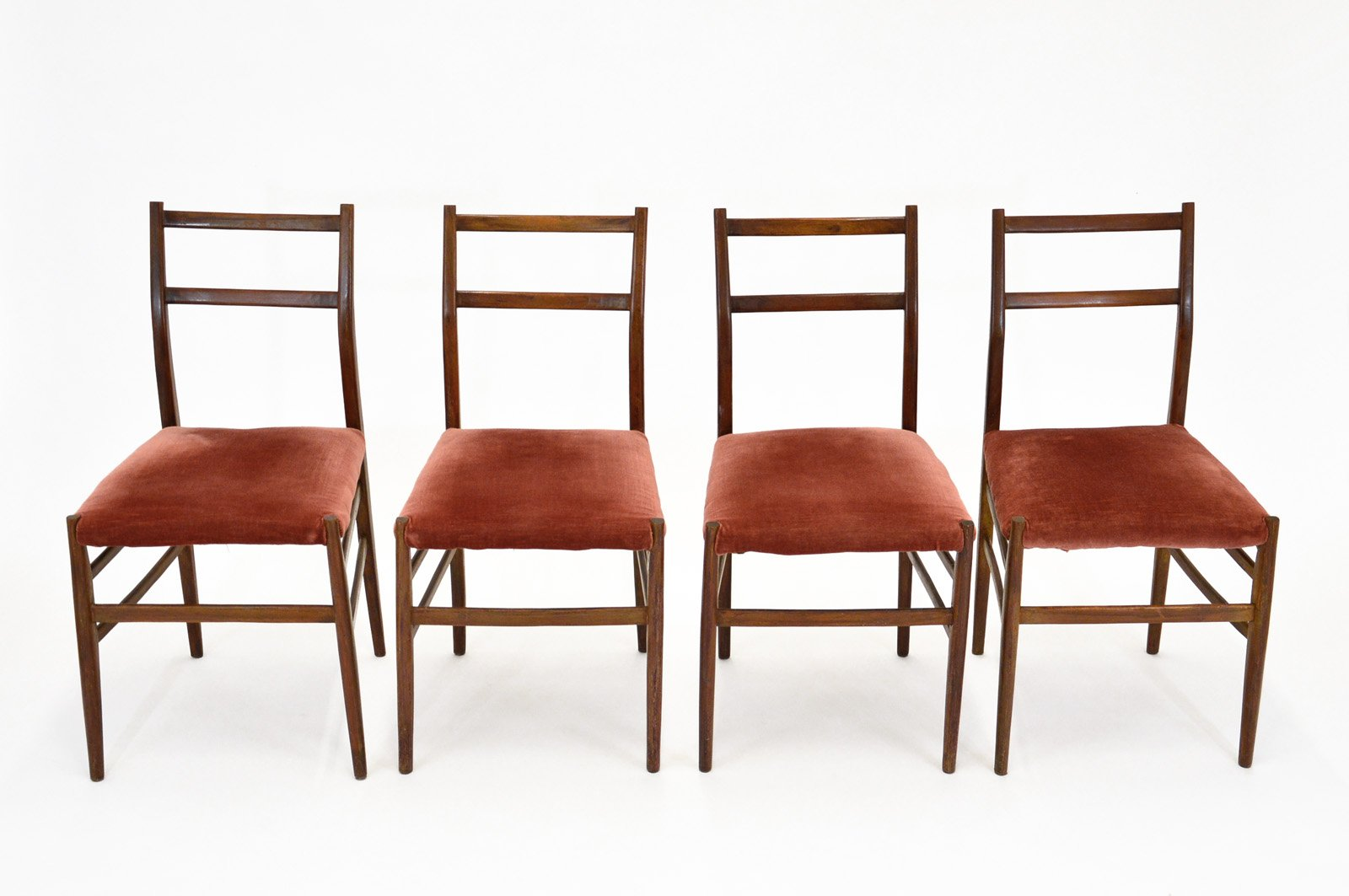 Mid Century Leggera Chairs By Gio Ponti For Cassina, Set Of 4