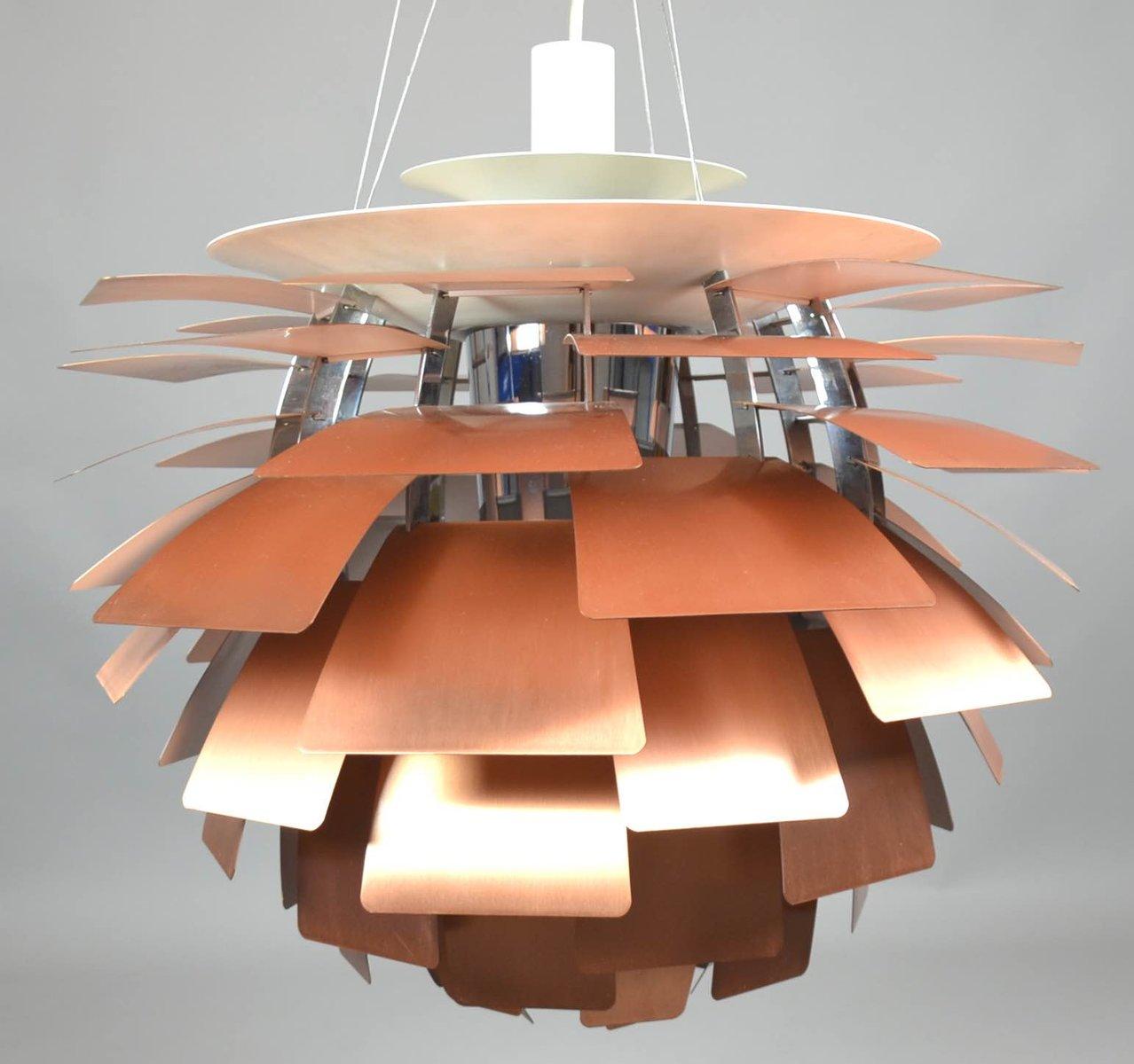 Mid-Century PH Zapfen Kupferlampe von Poul Henningsen für Louis Poulse...