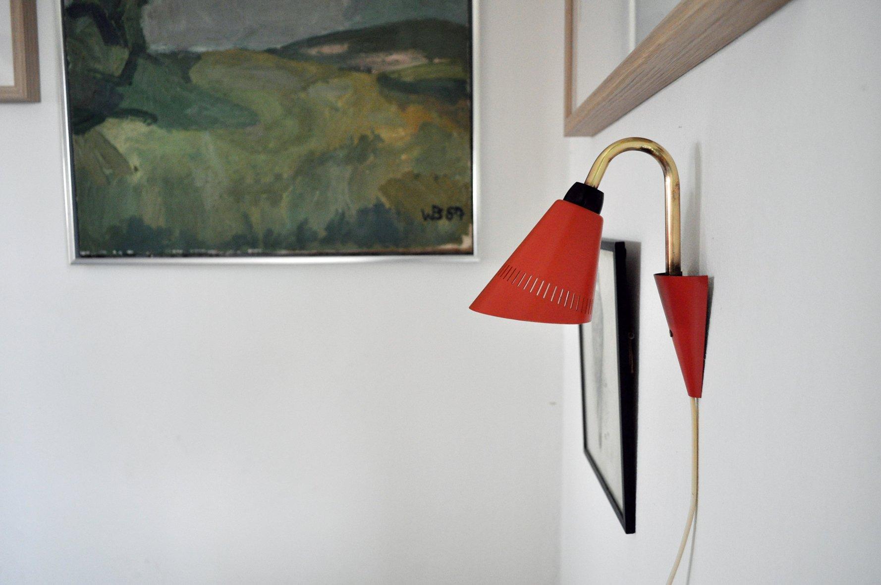 Kleine Dänische Vintage Wandlampe