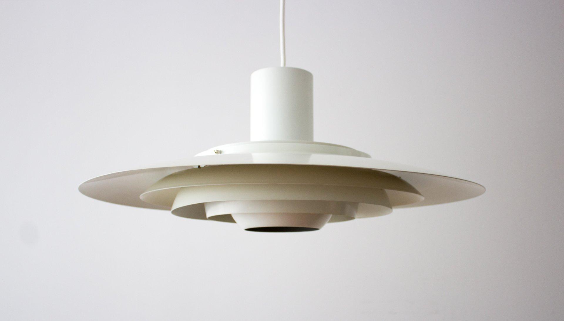 Weiße Vintage P376 Lampe von Preben Fabricius & Jørgen Kastholm für No...