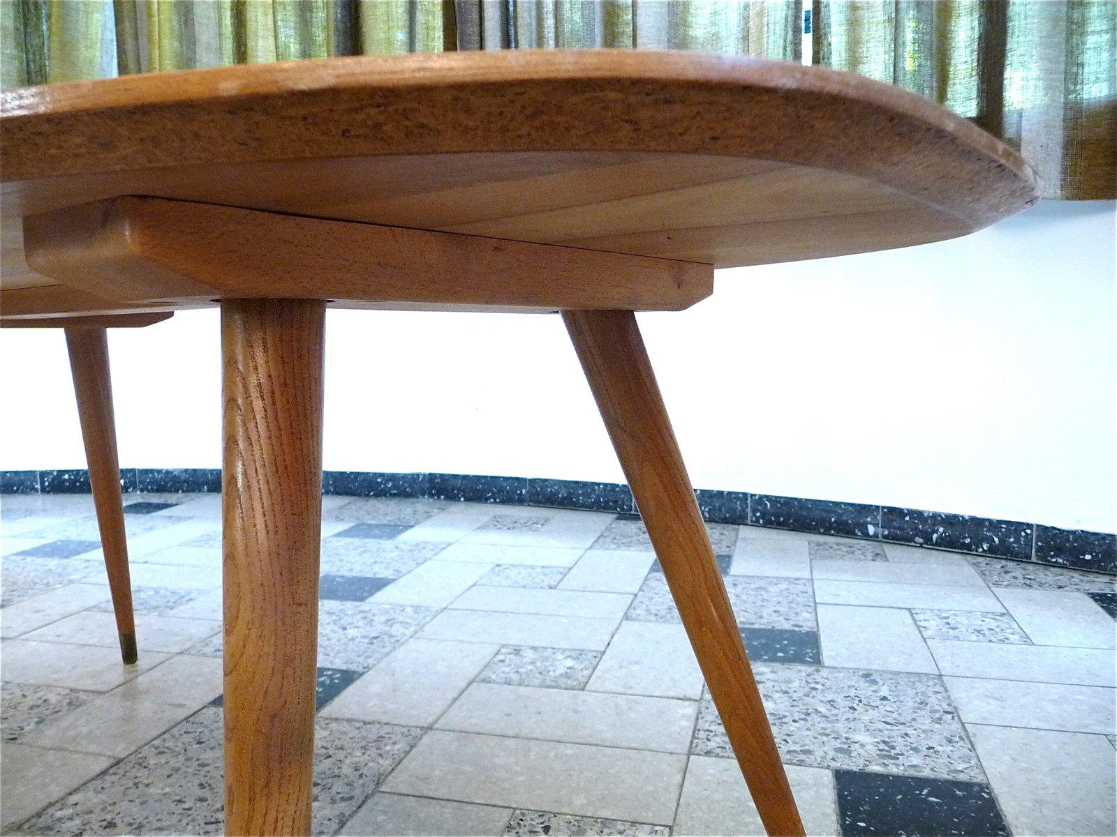ovaler deutscher couchtisch aus buche 1950er bei pamono kaufen. Black Bedroom Furniture Sets. Home Design Ideas