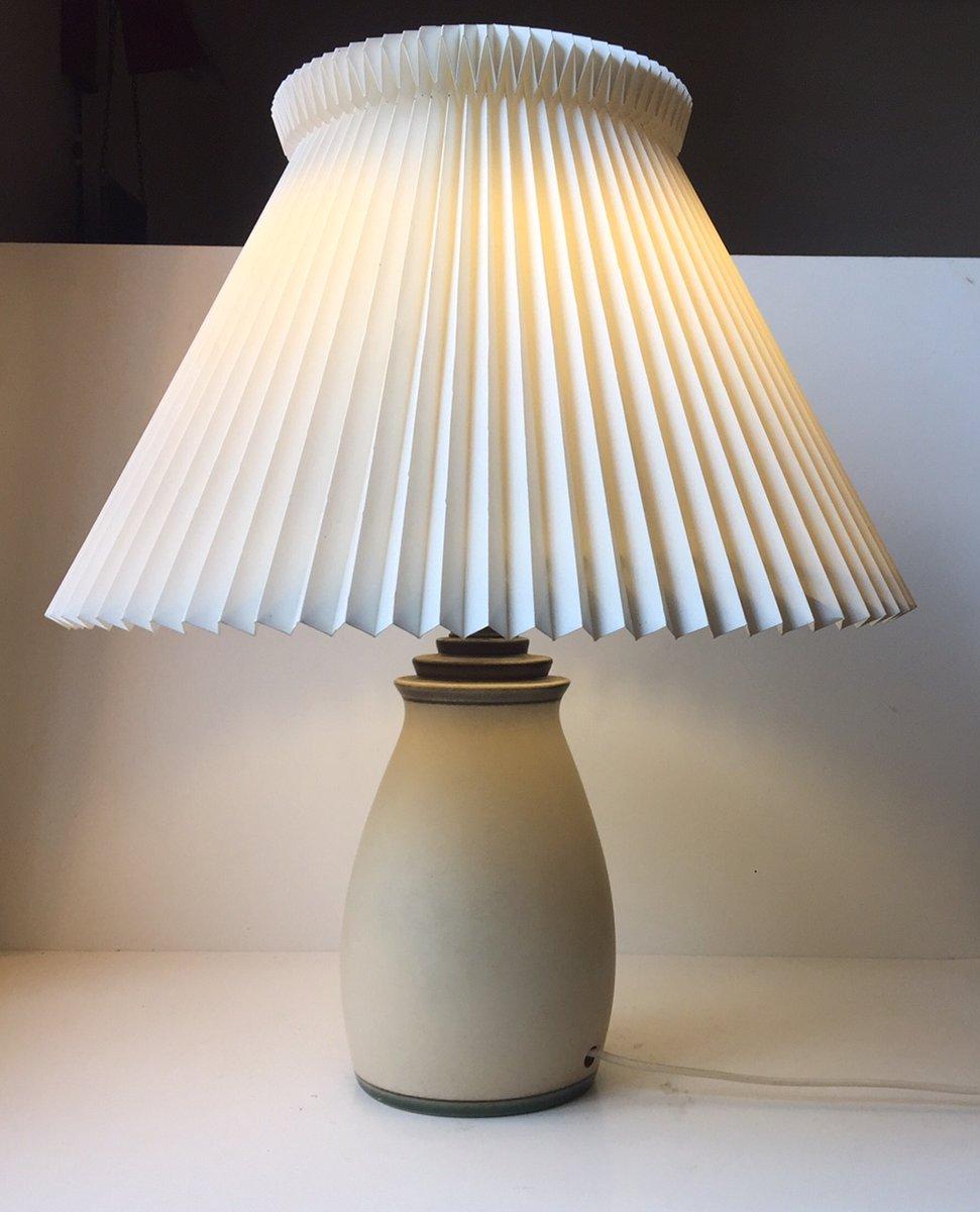 Dänische Art Déco Tischlampe aus Steingut von Knabstrup, 1930er