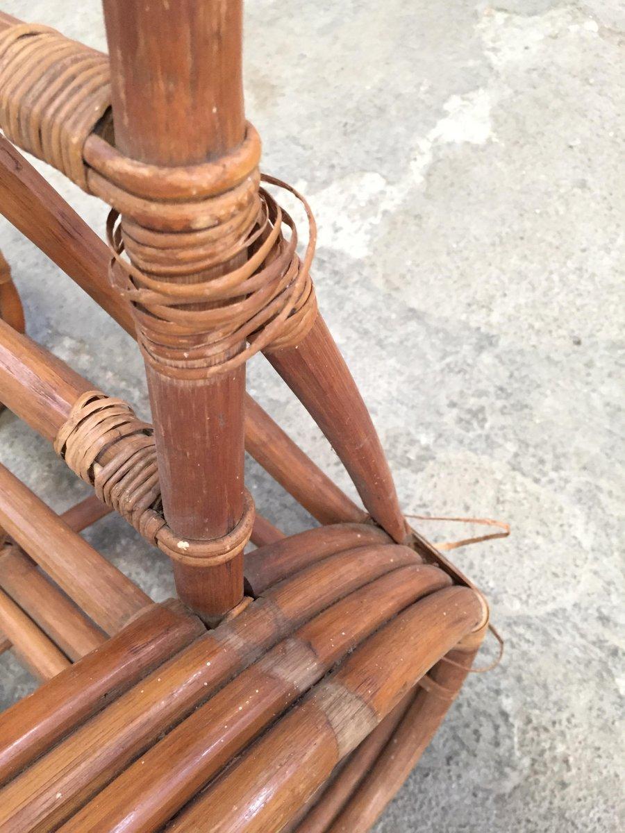 Chaise longue ronde en forme de bretzel en bambou rotin france 1950s en vente sur pamono - Chaise longue en anglais ...