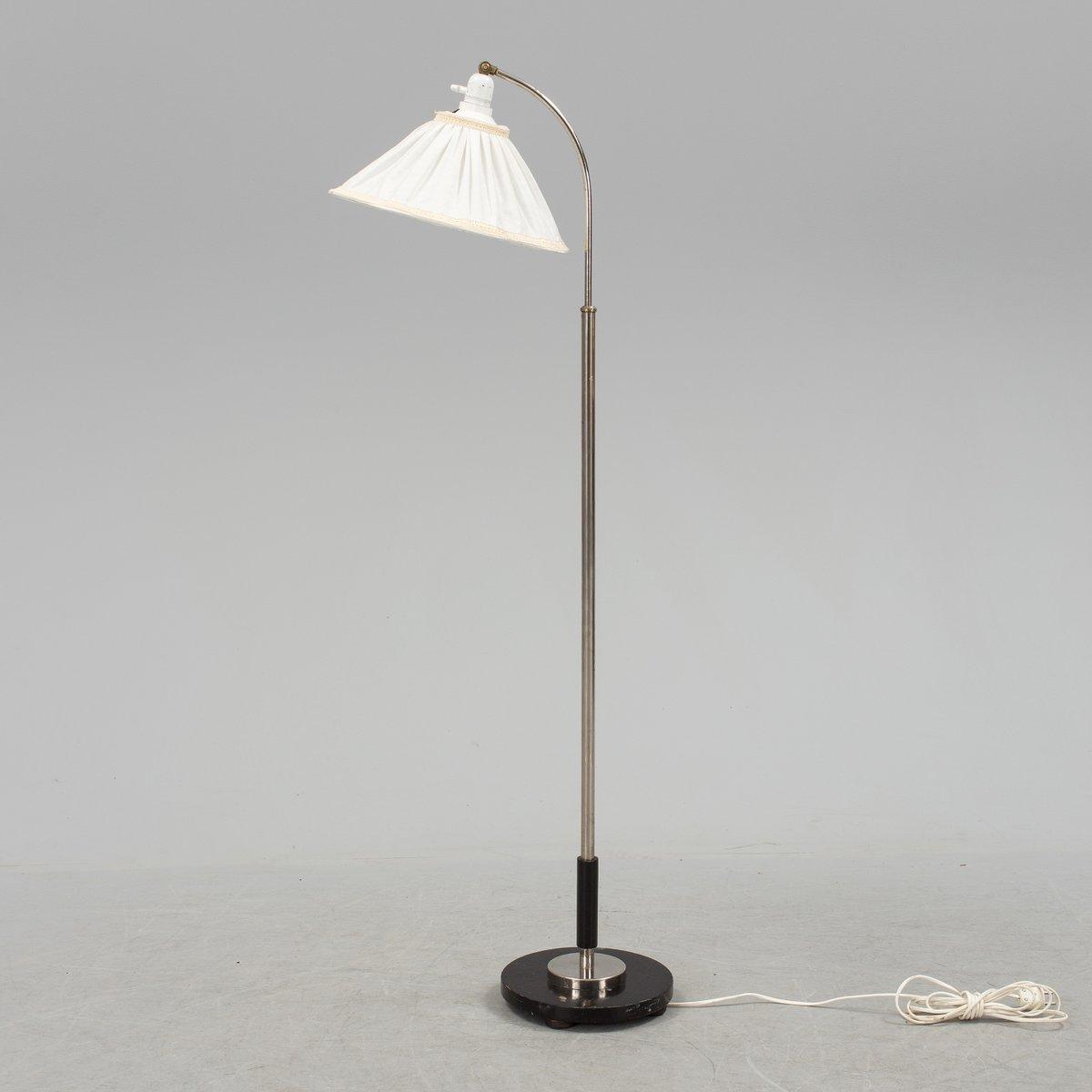 Skandinavische Art Deco Stehlampe von Zenith, 1930er