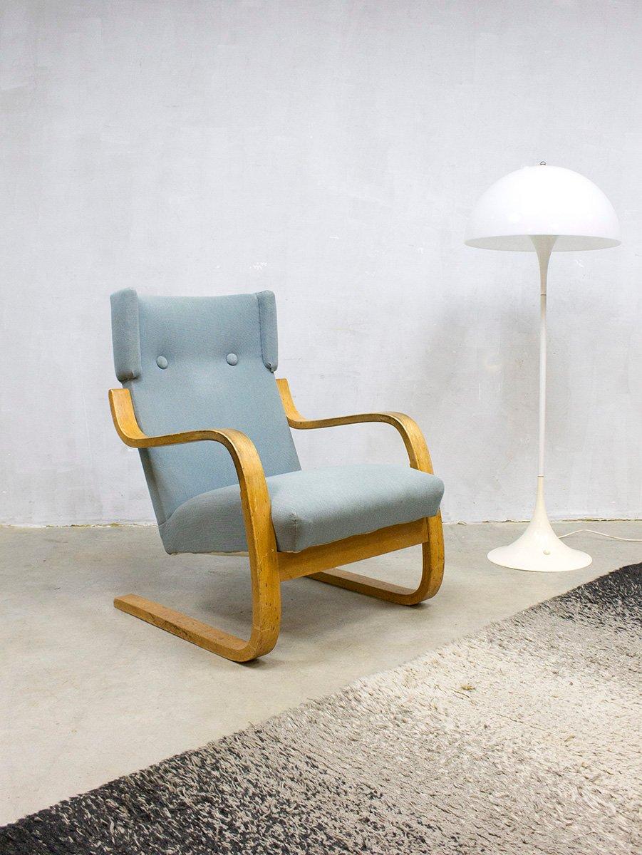 Model 401 Lounge Chair By Alvar Aalto For Artek 1960s For