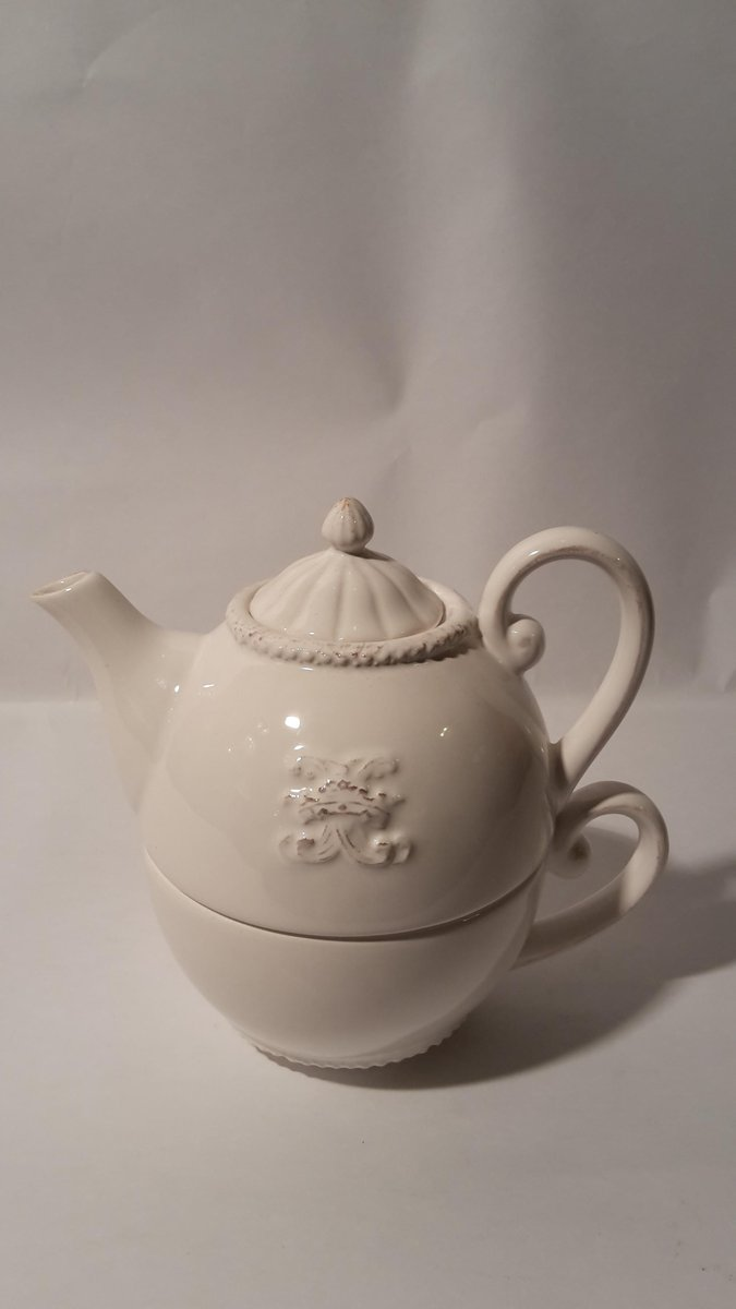 Vintage French Teapot With Ceramic Cup For Sale At Pamono