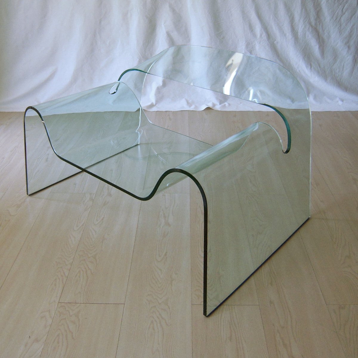 Ghost Glas Sessel von Cini Boeri & Tomu Katayanagi für Fiam, 1987