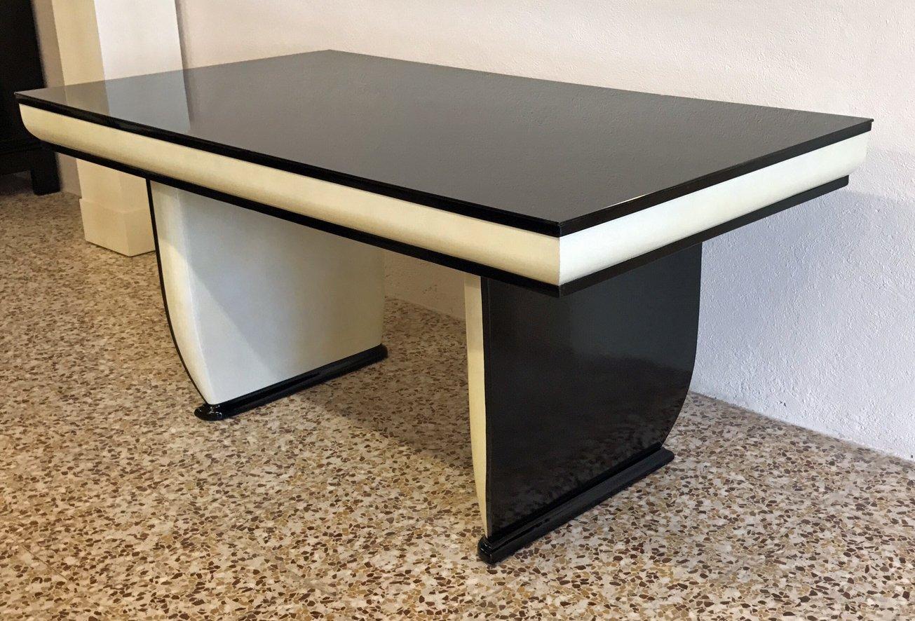Tavolo in stile Art Déco in vetro nero, Italia, anni \'40 in vendita ...