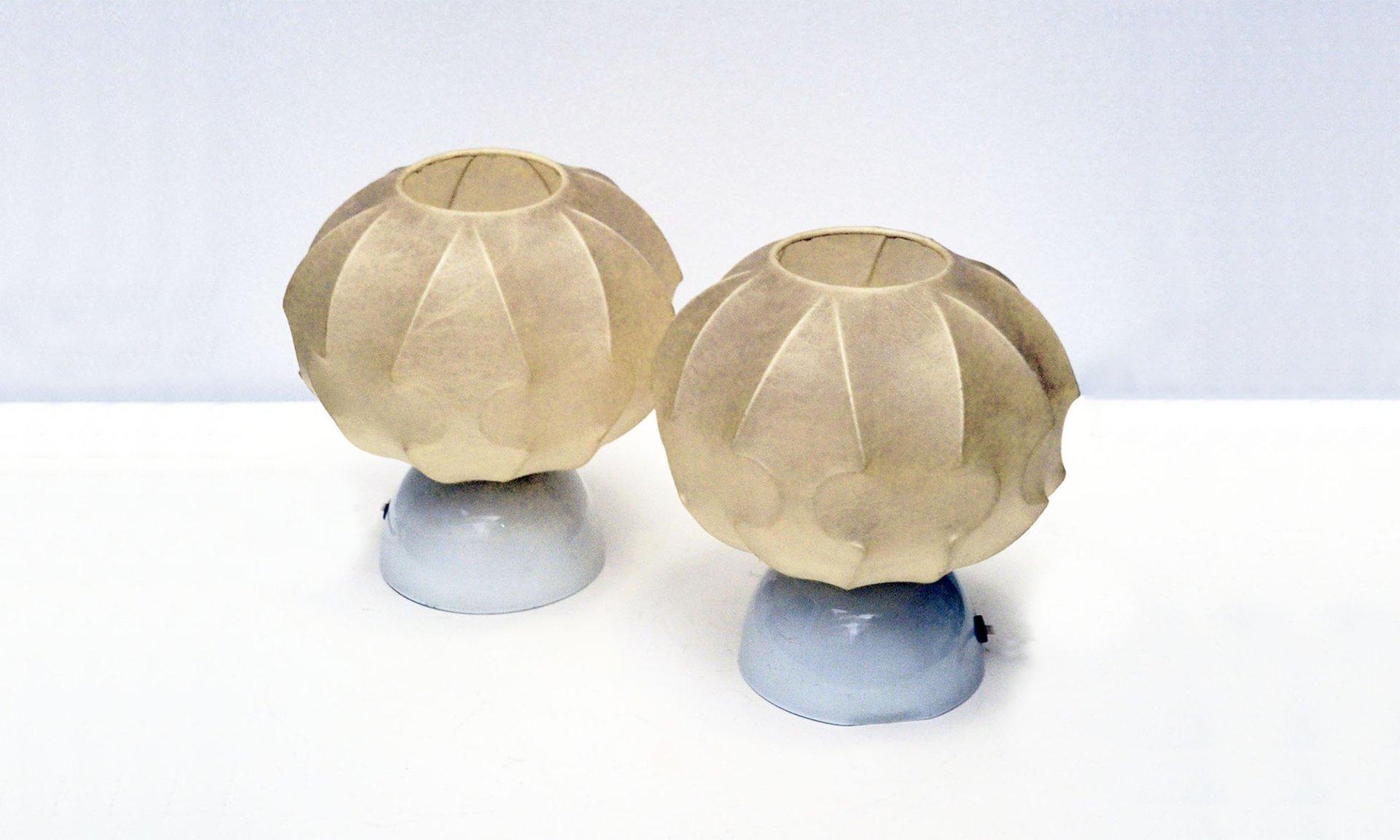 Italienische Kokon Lampen, 1960er, 2er Set