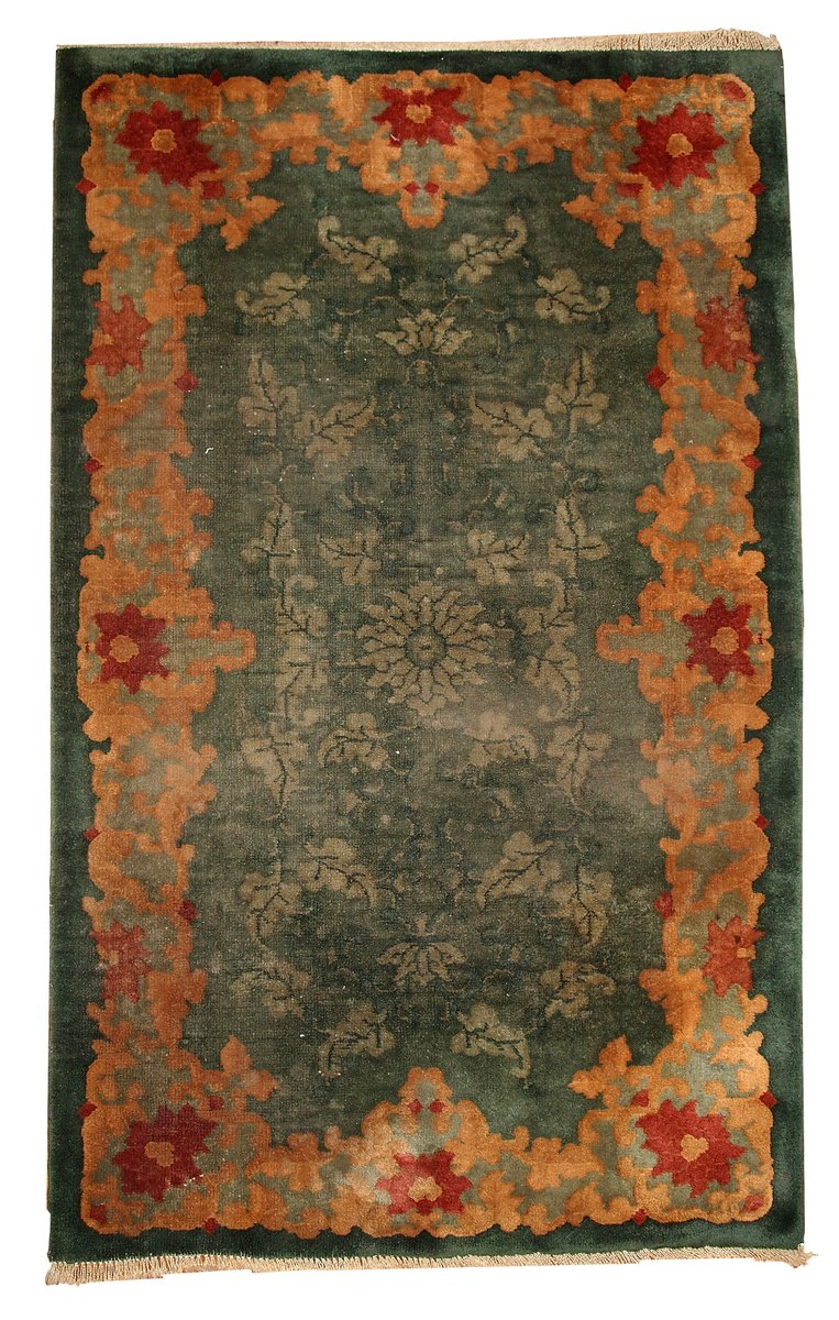 Art Deco Chinese Handmade Rug 1920s For Sale At Pamono