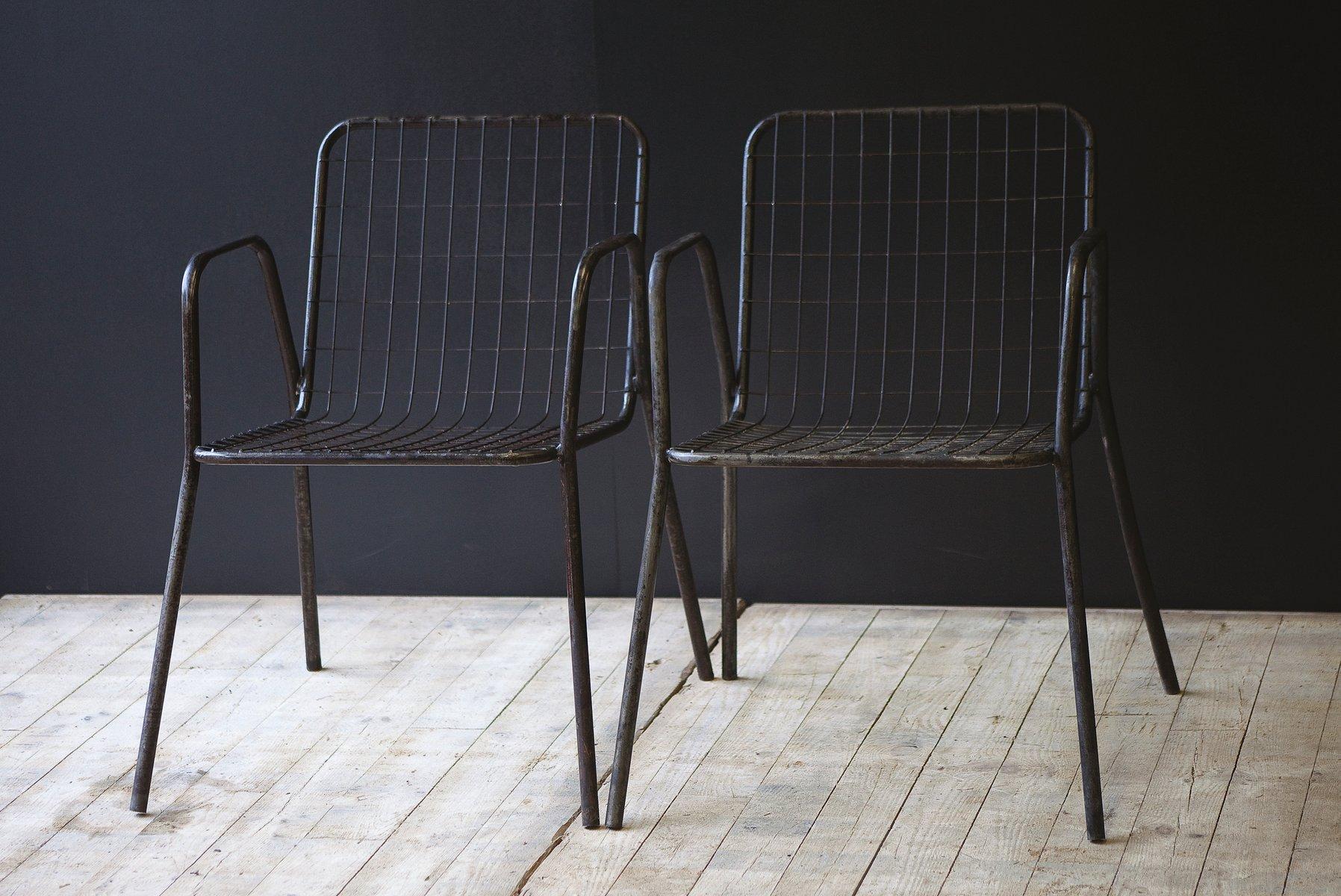 Sedie Di Metallo Vintage : Sedie vintage in metallo set di in vendita su pamono