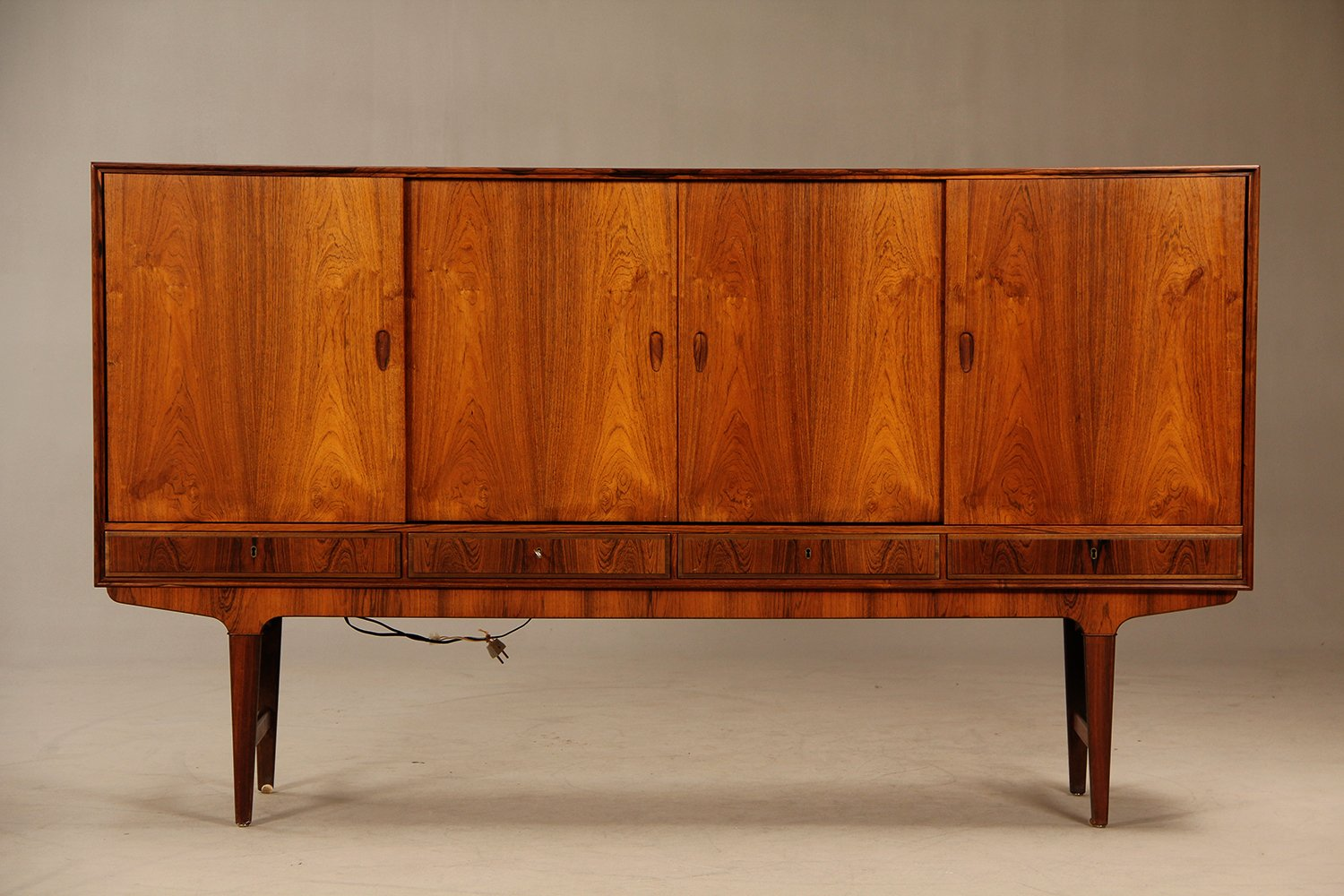 1960s Danish Credenza : Mid century danish rosewood credenza with bar cabinet s for