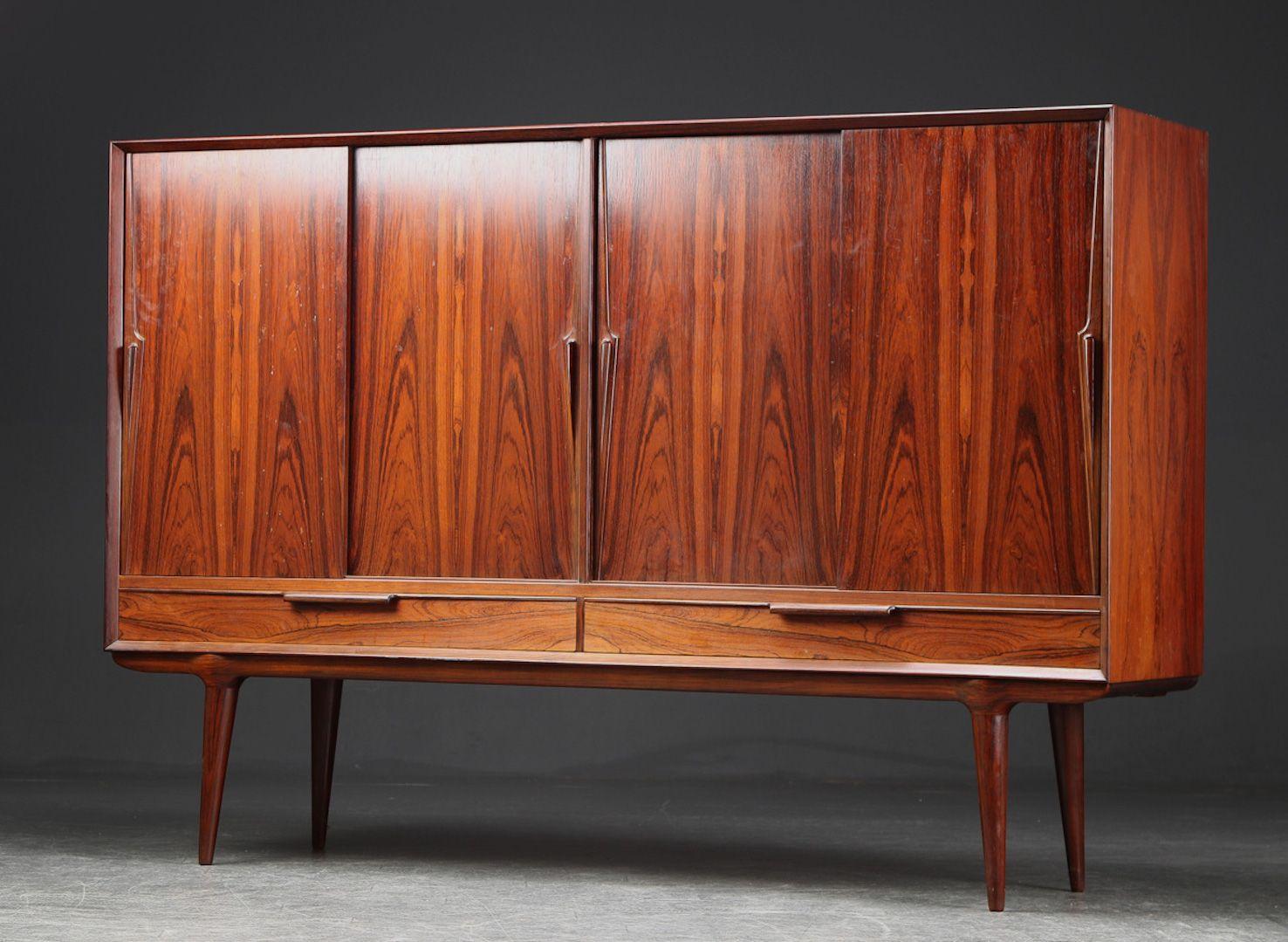 Danish Rosewood Credenza : Mid century danish rosewood credenza highboard by omann jun 1960s