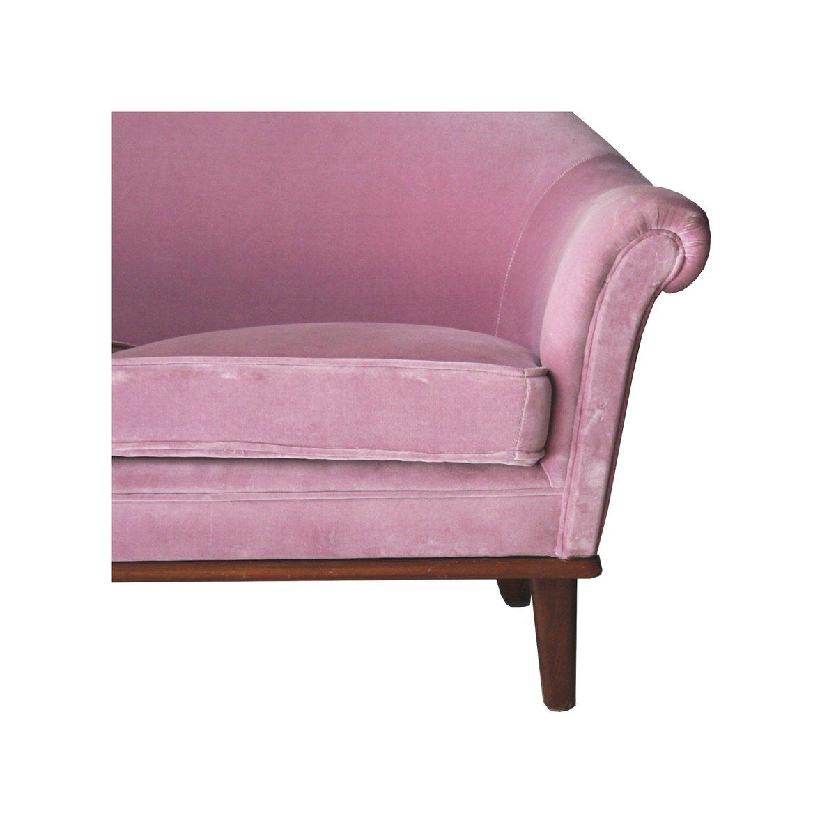 swedish pink velvet sofa 1950s 5 345000 - Pink Velvet Sofa