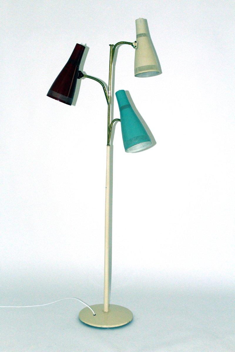 Stehlampen mit Drei Leuchten von Stilnovo, 1950er