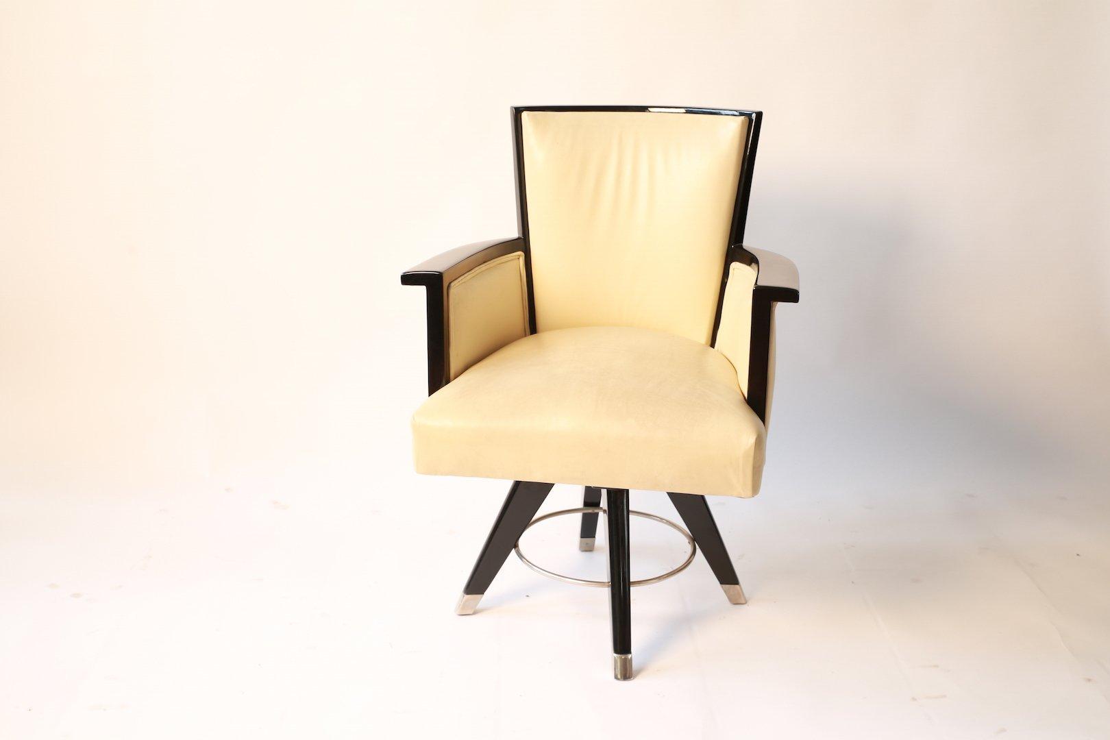 Sedia da scrivania art deco ebanizzata in vendita su pamono for Sedia scrivania design