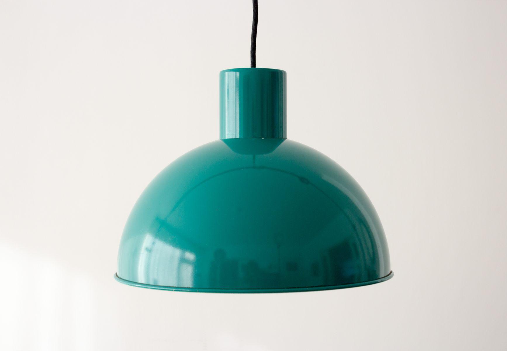 Grüne Vintage Midi Bunker Lampe von Johannes Hammerborg für Fog & Møru...