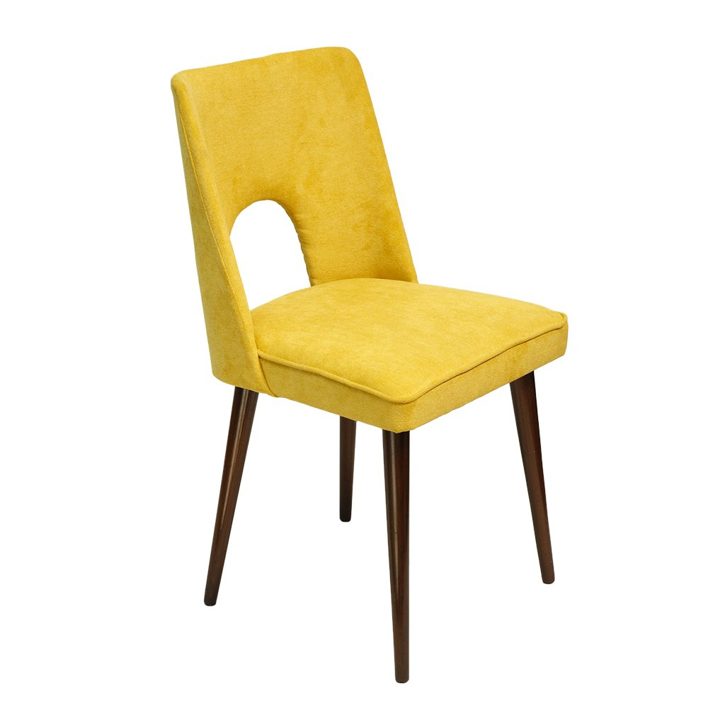 Yellow Side Chair By Leniewski 1970s Yellow Side Chair M10