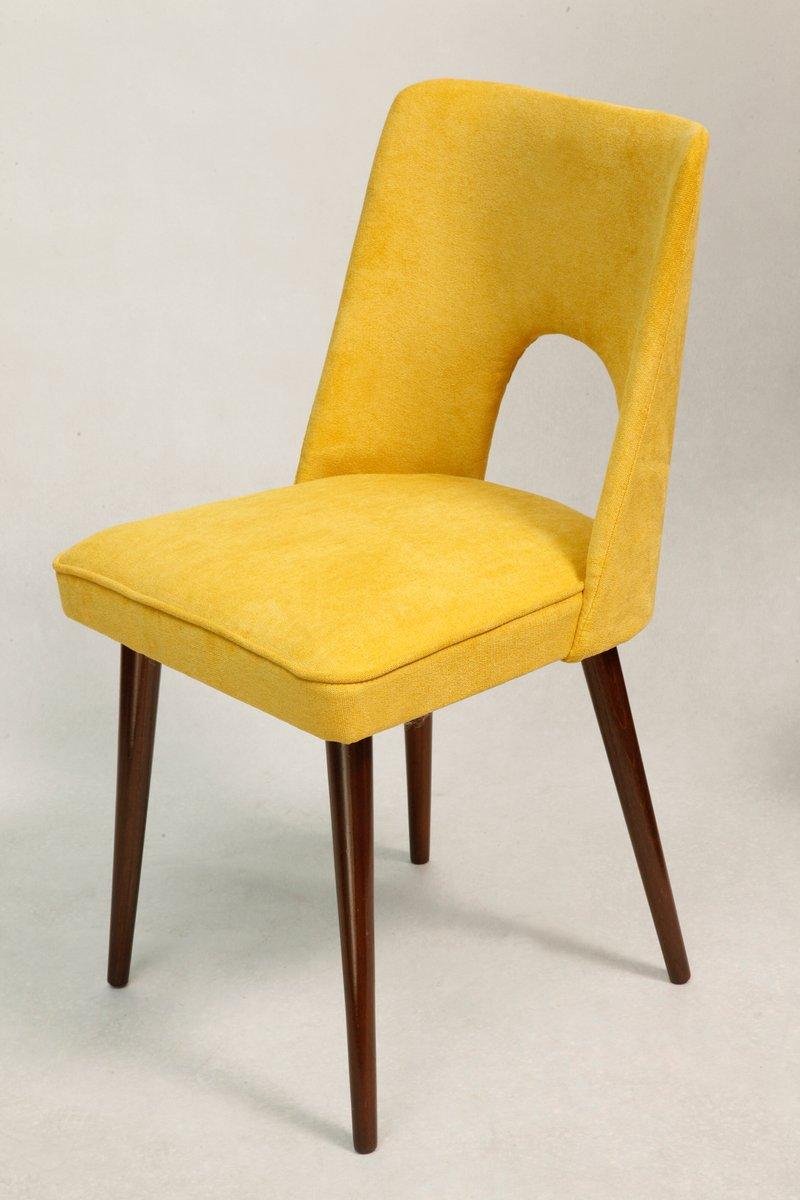 Sedia gialla di lesniewski anni 39 70 in vendita su pamono for Sedia design anni 70