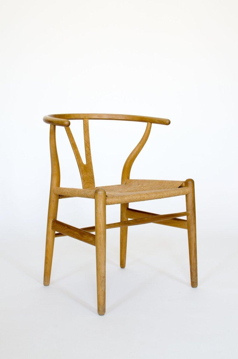 mid century ch24 wishbone stuhl von hans j wegner f r carl hansen s n bei pamono kaufen. Black Bedroom Furniture Sets. Home Design Ideas