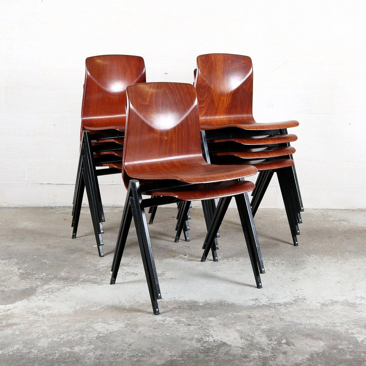 Mid century stuhl aus schichtholz metall von pagholz bei pamono kaufen - Mid century stuhl ...